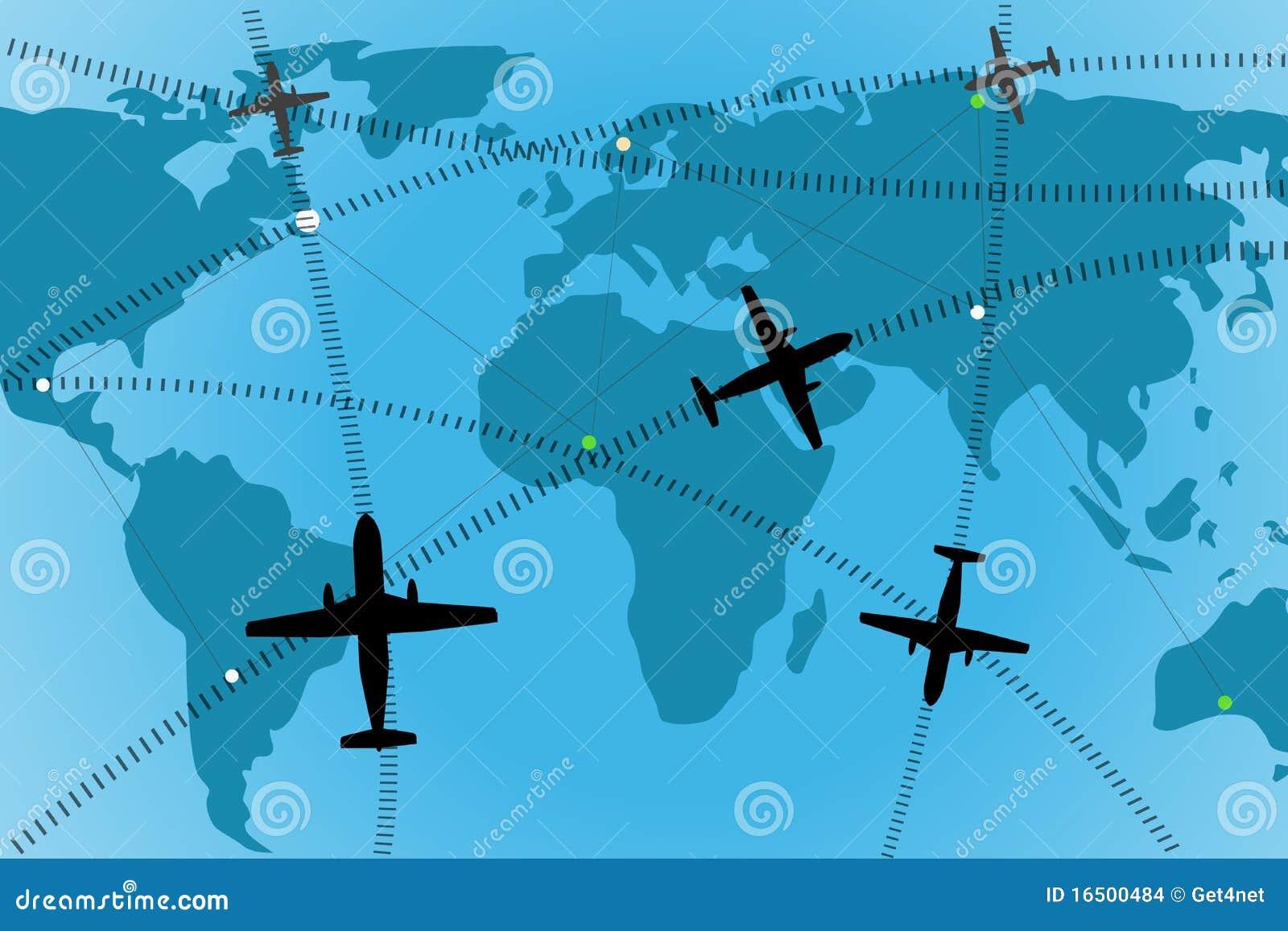 трасса авиакомпании