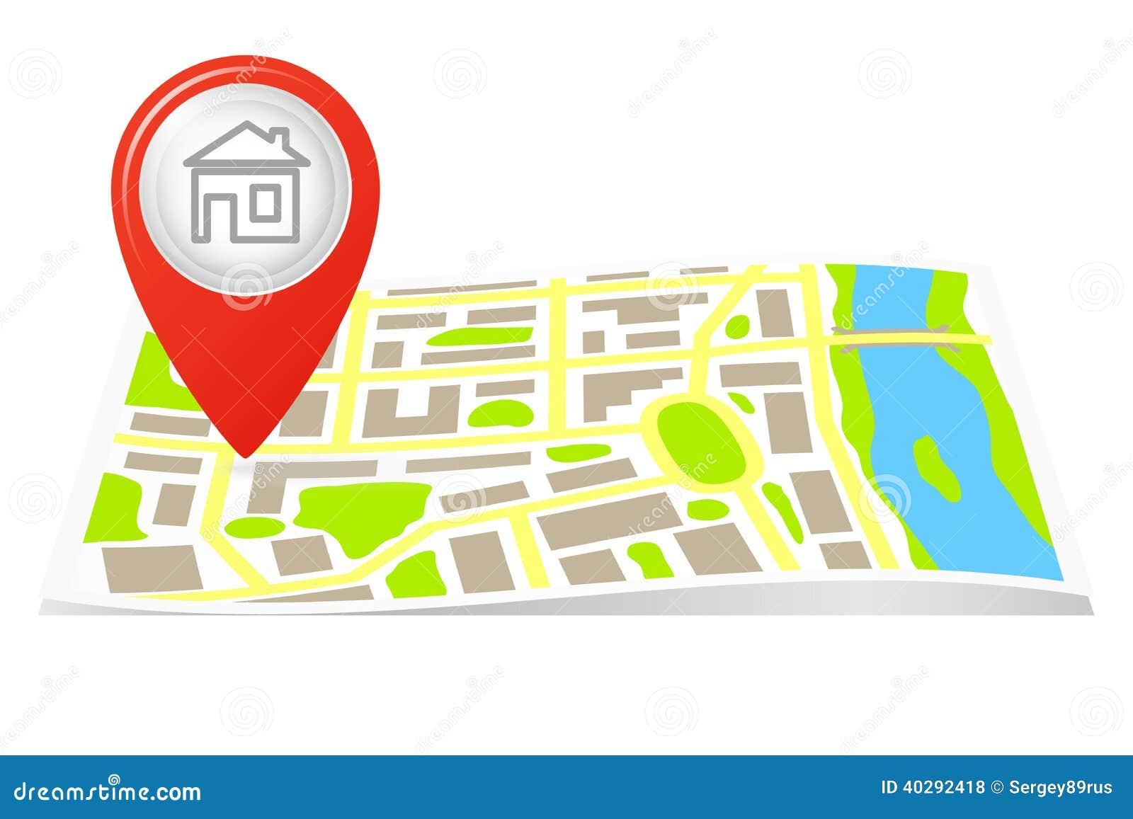 Трасса на карте города.
