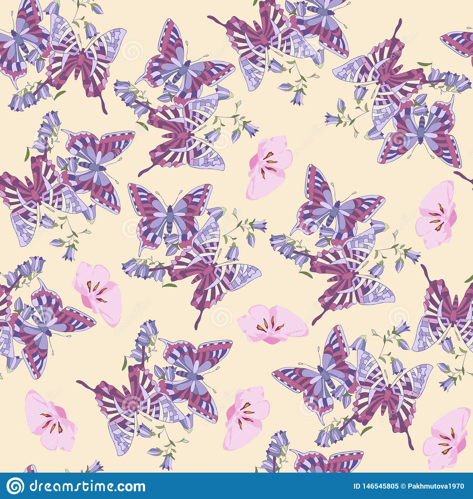 Pattern, flower, floral, seamless, abstract, butterfly, Wallpaper, decoration, pink, flowers, design, illustration, nature, white,