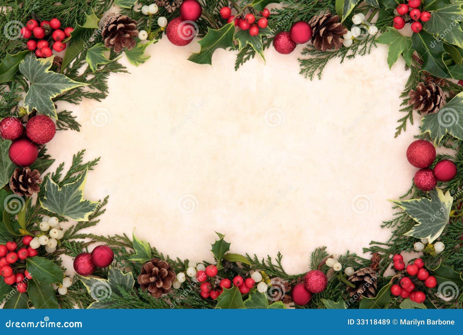 Традиционная граница рождества