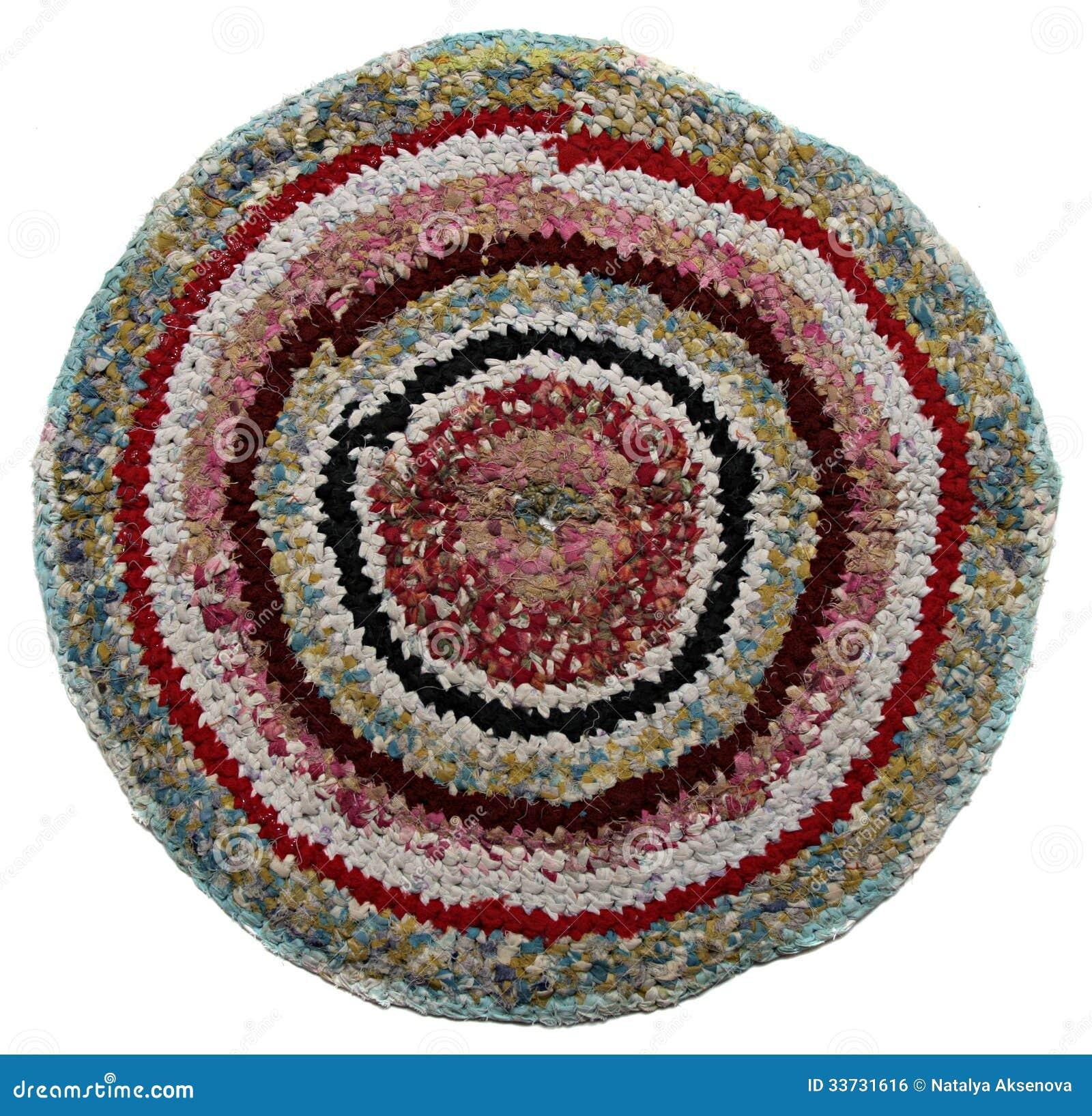 Традиционная русская круглая циновка knit handmade.