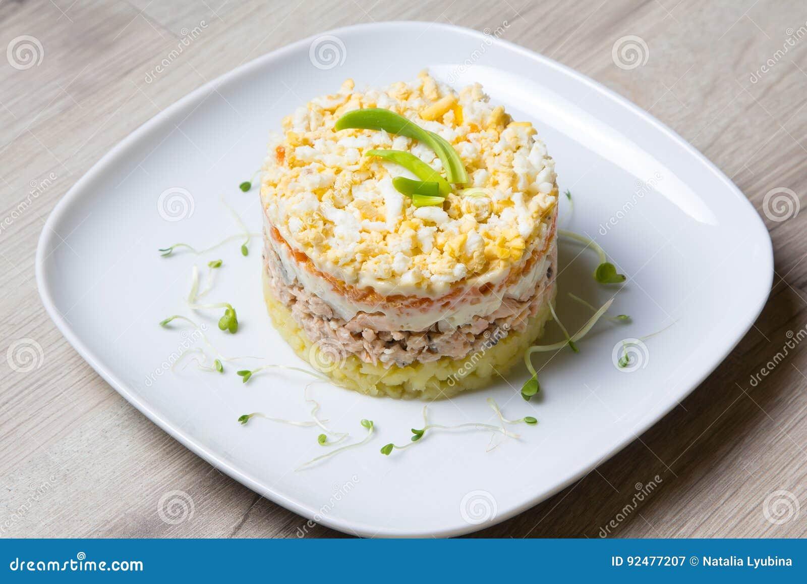 Салат мимоза традиционная