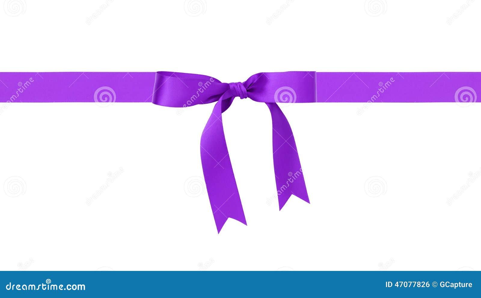 Традиционная фиолетовая граница смычка ленты