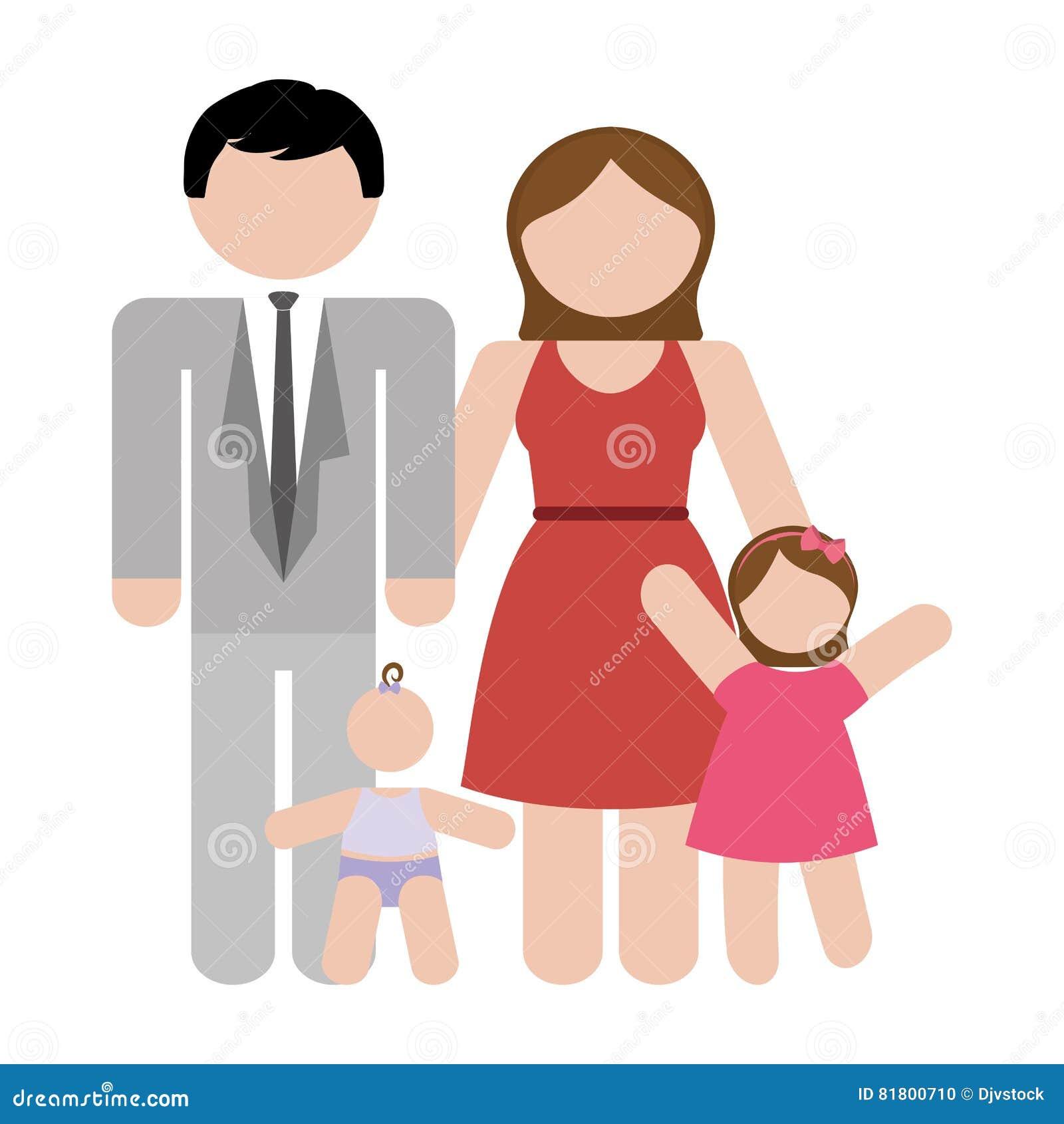 Традиционное изображение значка семьи