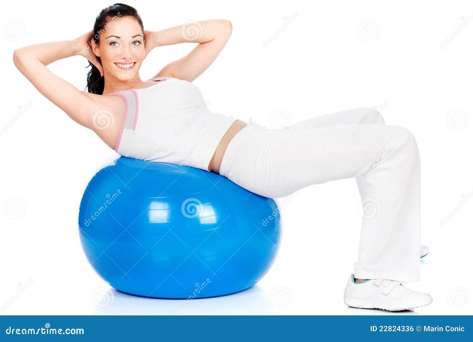 тренировка шарика большая голубая