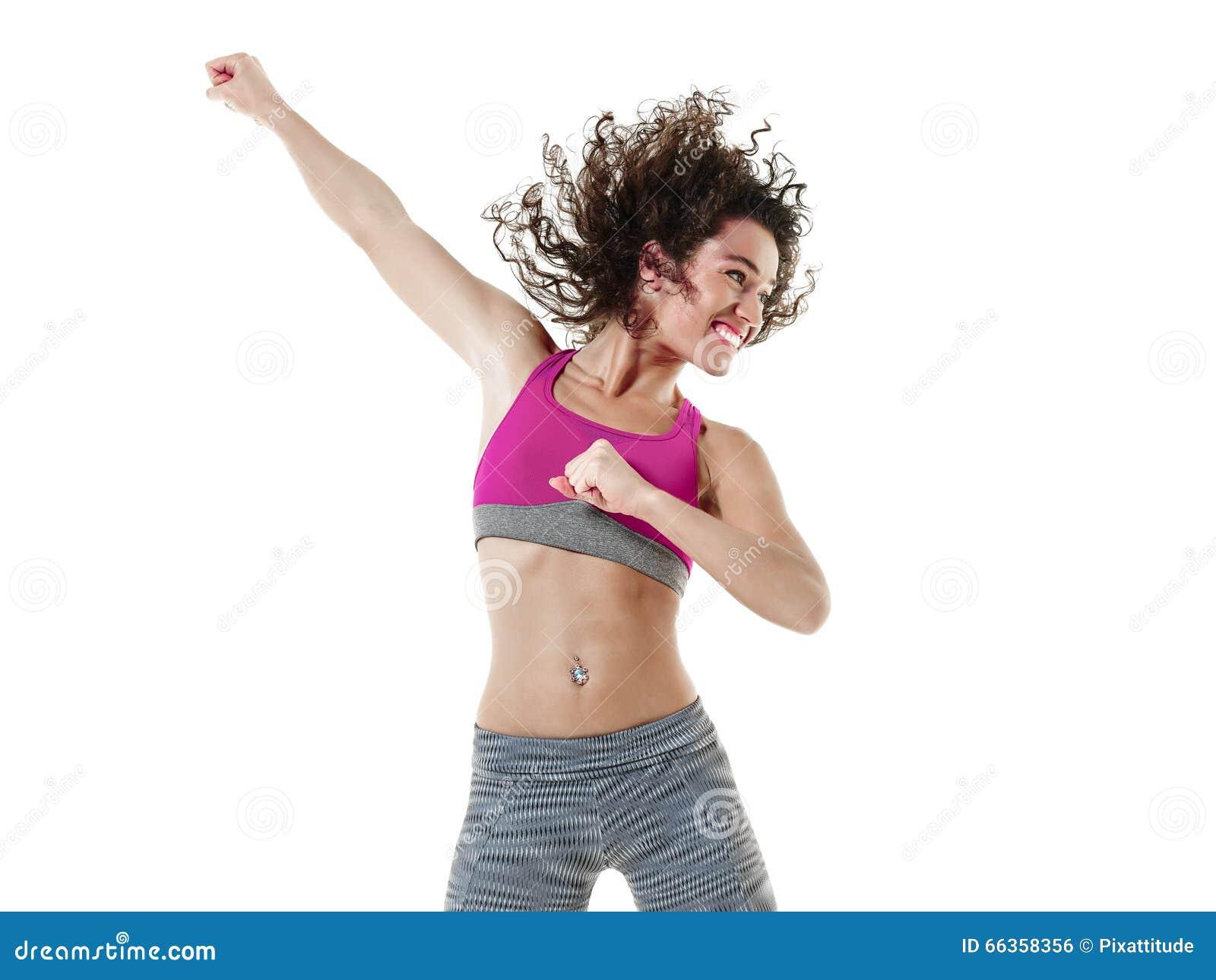 Тренировки фитнеса танцев танцора zumba женщины