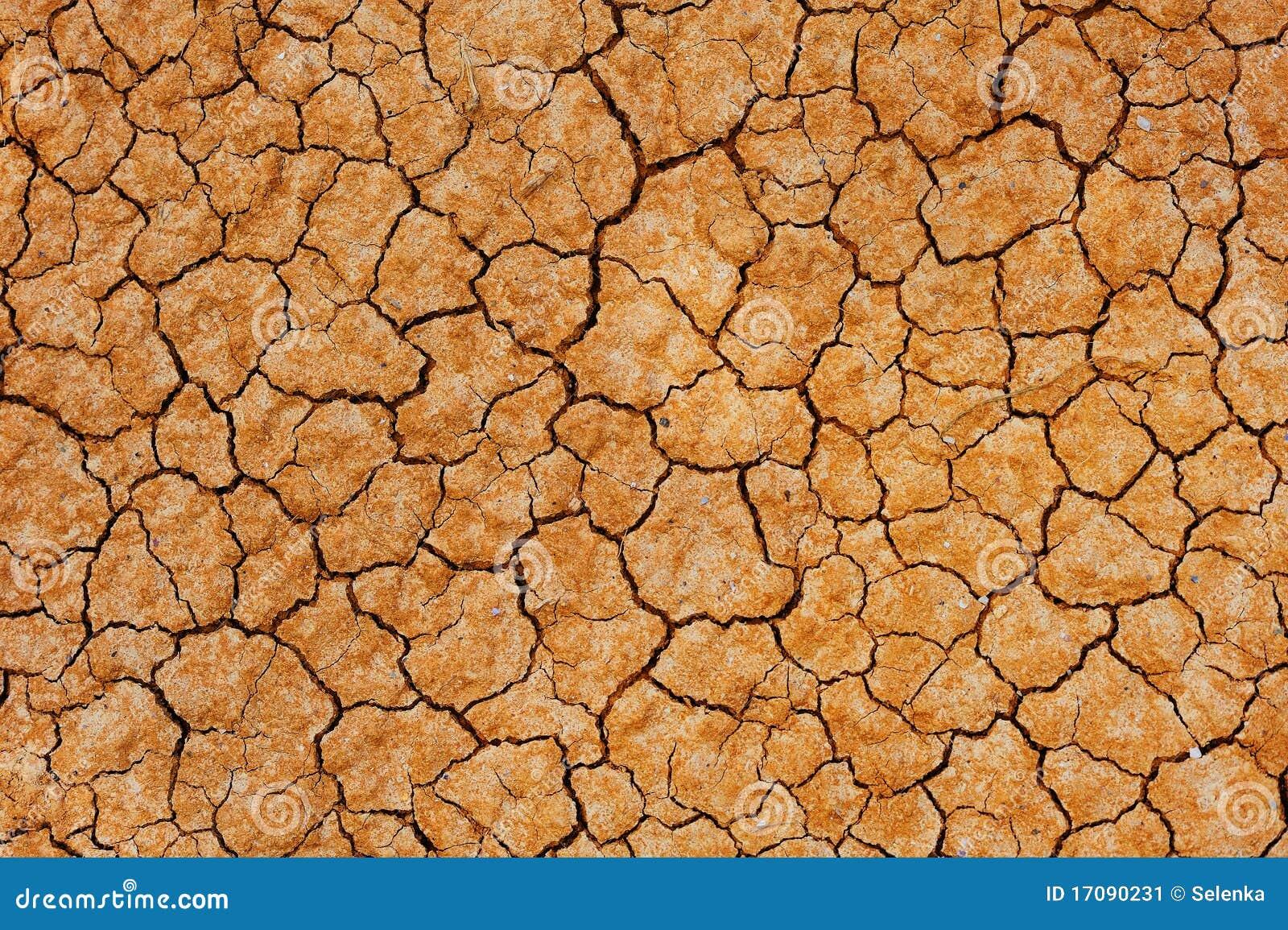 треснутая сухая земля