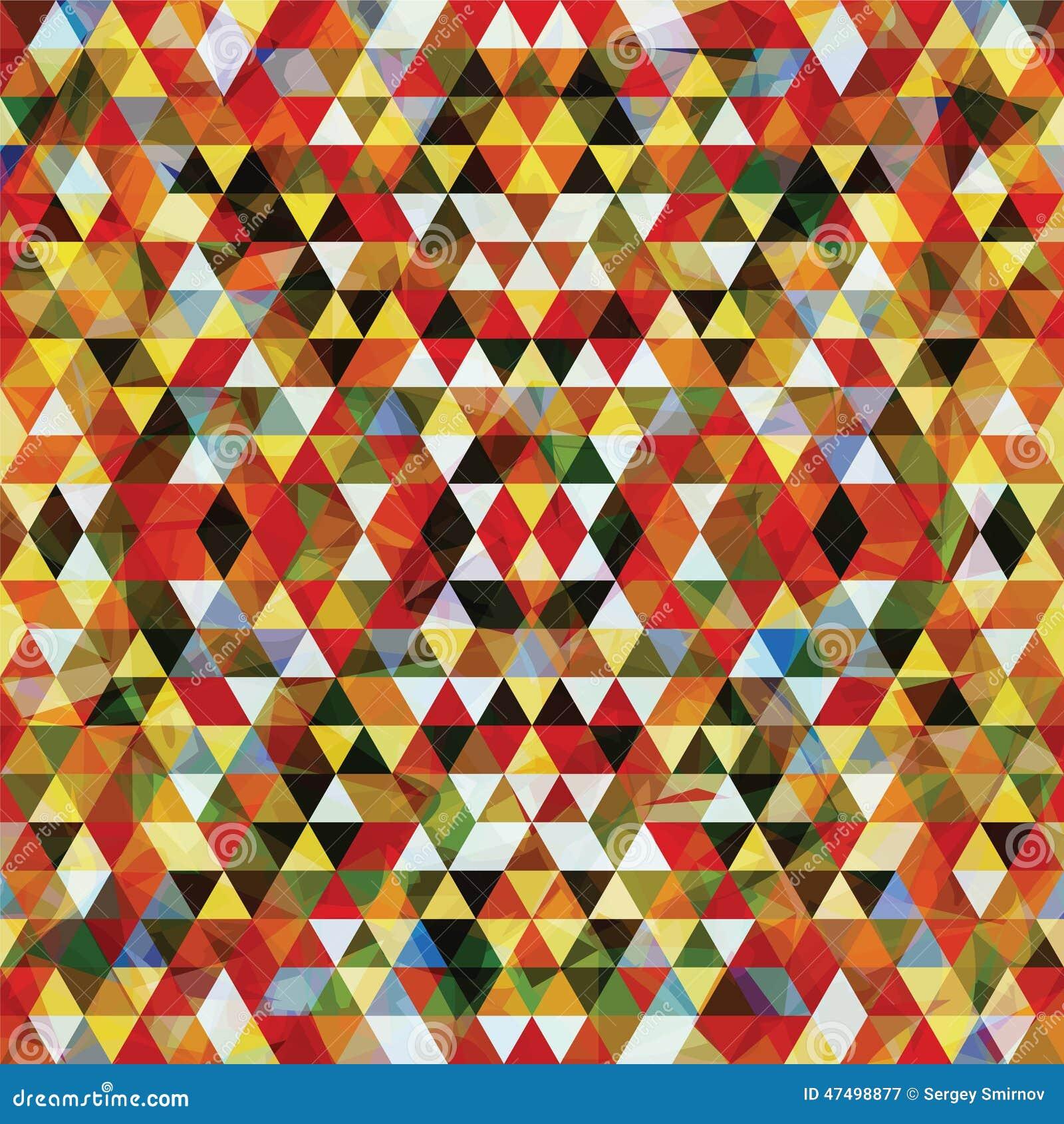 Триангулярная мозаика красочное BackgroundÂŒ