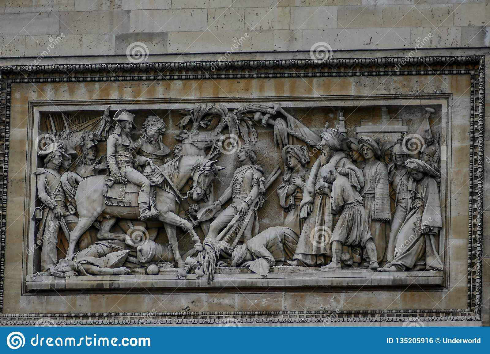 Триумфальная Арка, изображение фото красивый панорамный взгляд города столичного жителя Парижа