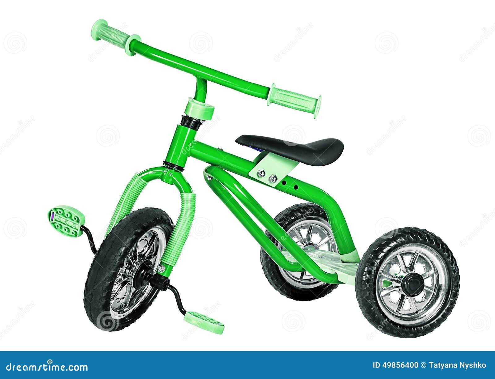 Трицикл детей зеленый
