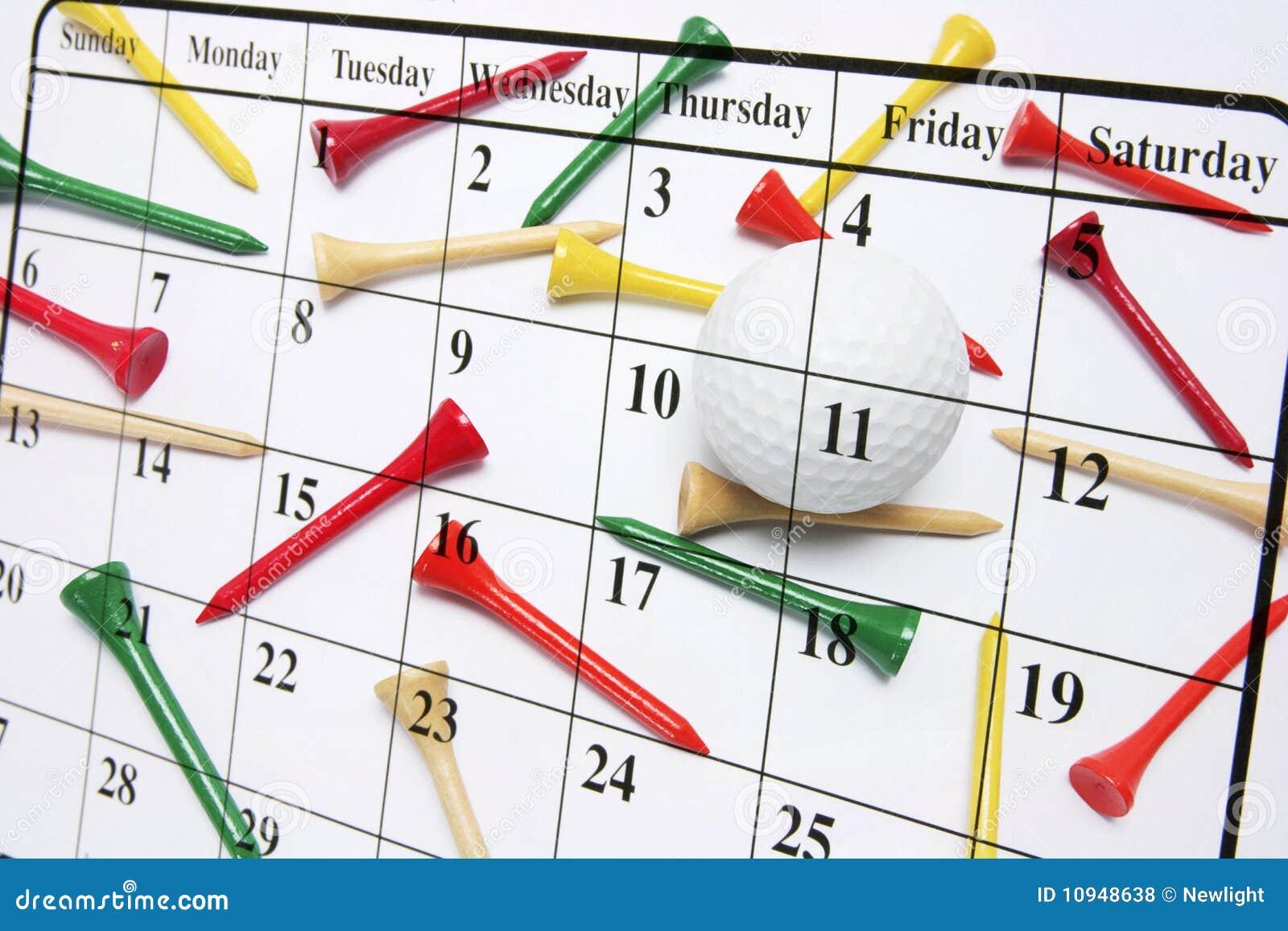 тройники гольфа календара
