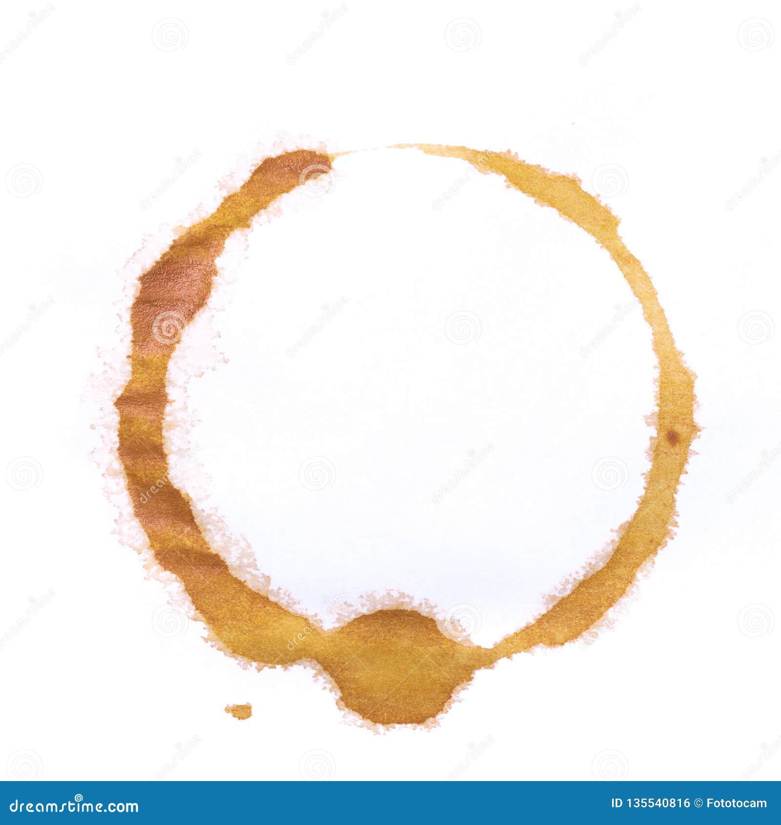 Тройник или кольца кофейной чашки изолированные на белой предпосылке