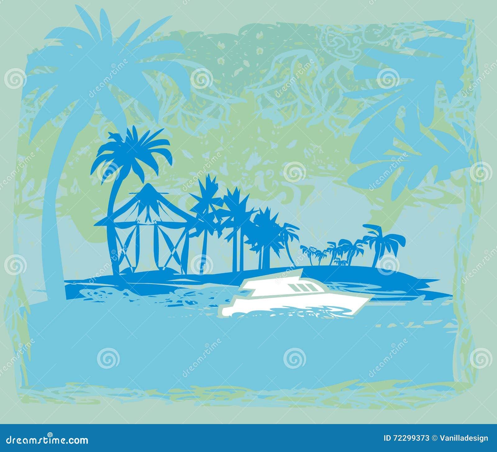 Download тропическая каникула иллюстрация вектора. иллюстрации насчитывающей счастье - 72299373