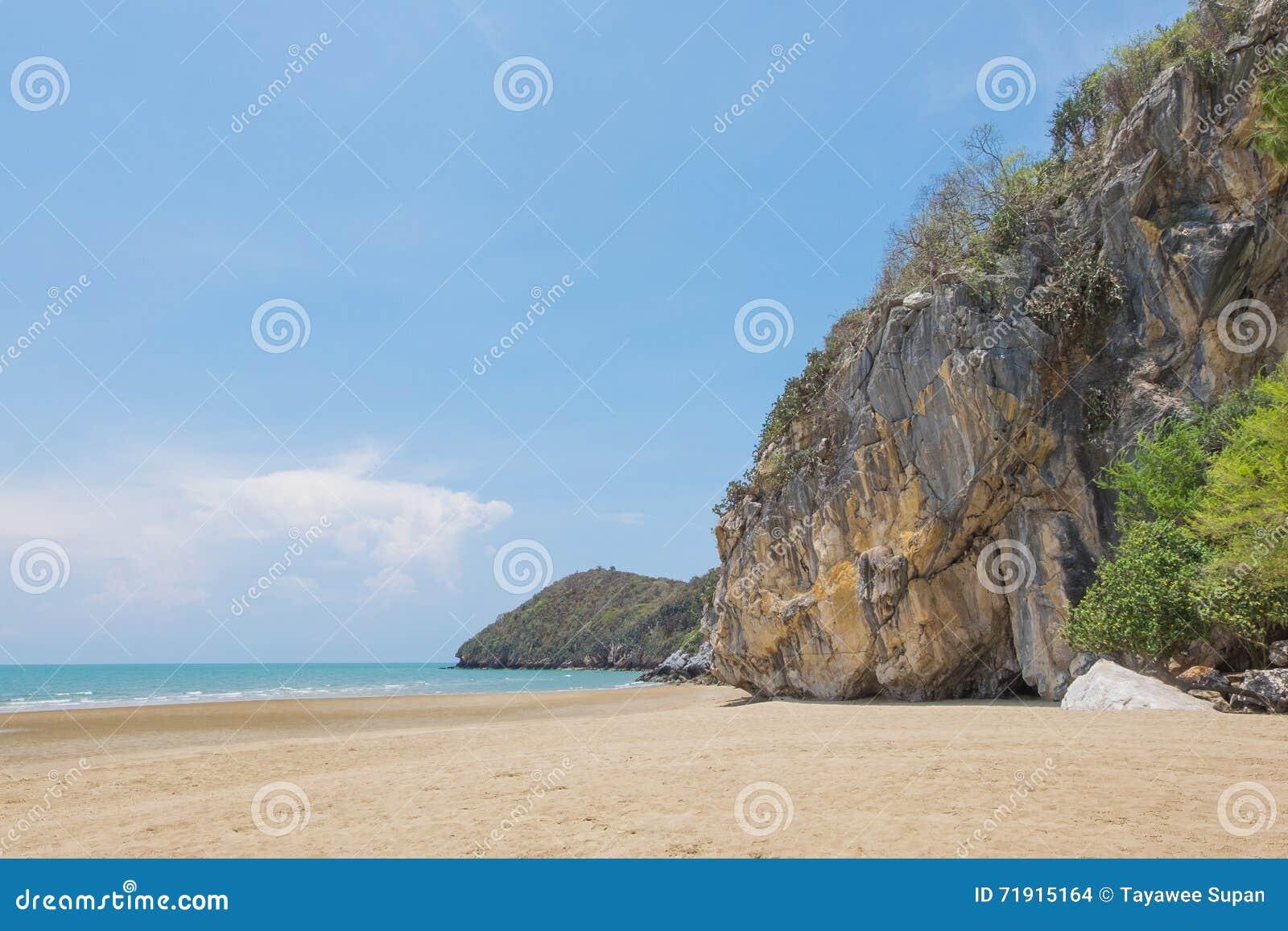 "Тропическое  Kalok†""Khao пляжа в Pranburi, Prachuap Khiri Khan"