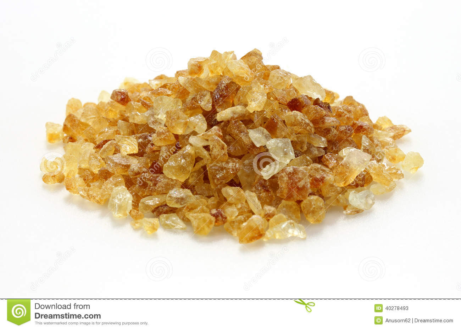 Тростниковый сахар на белизне