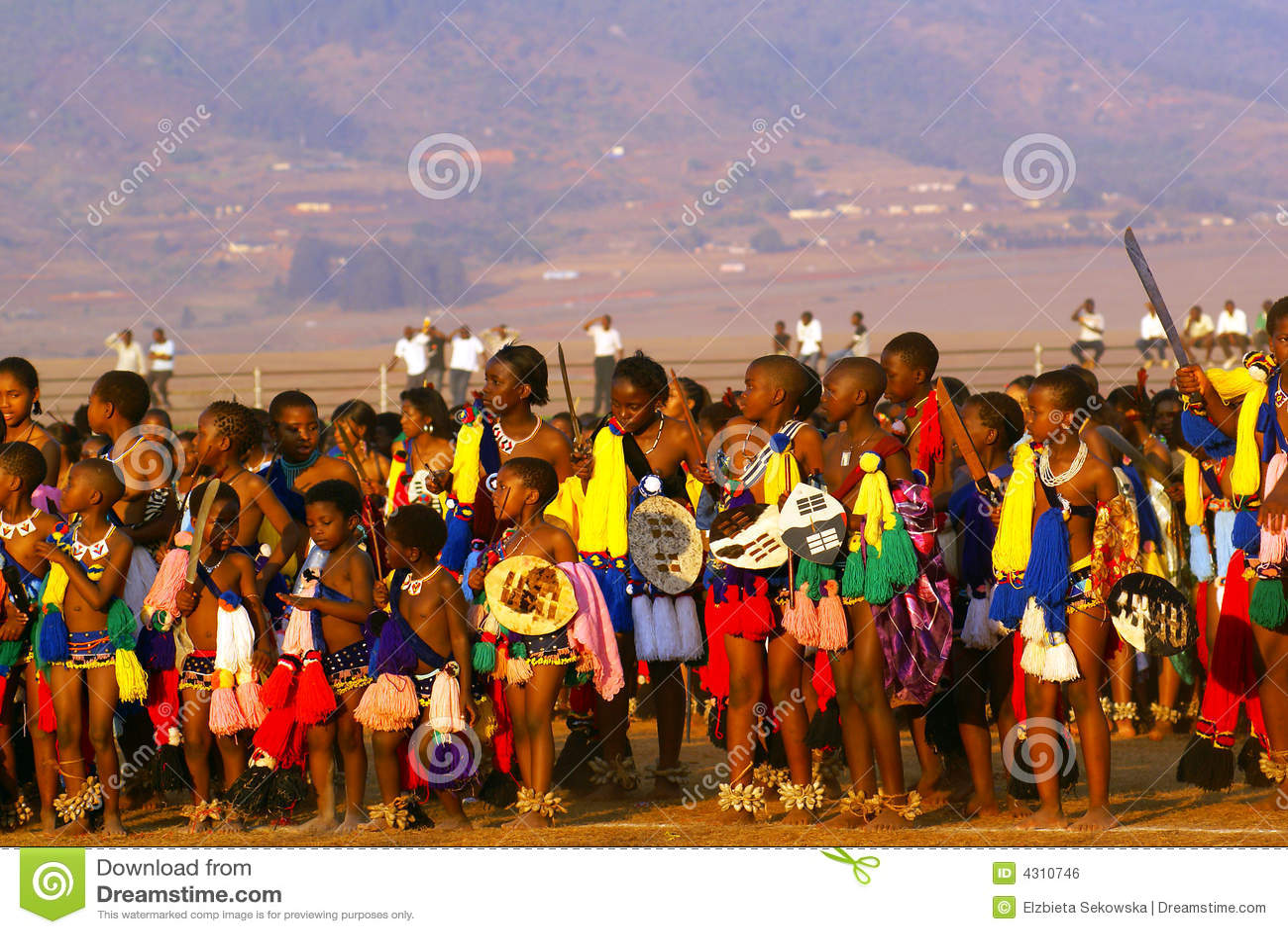 тростник Свазиленд танцульки Африки