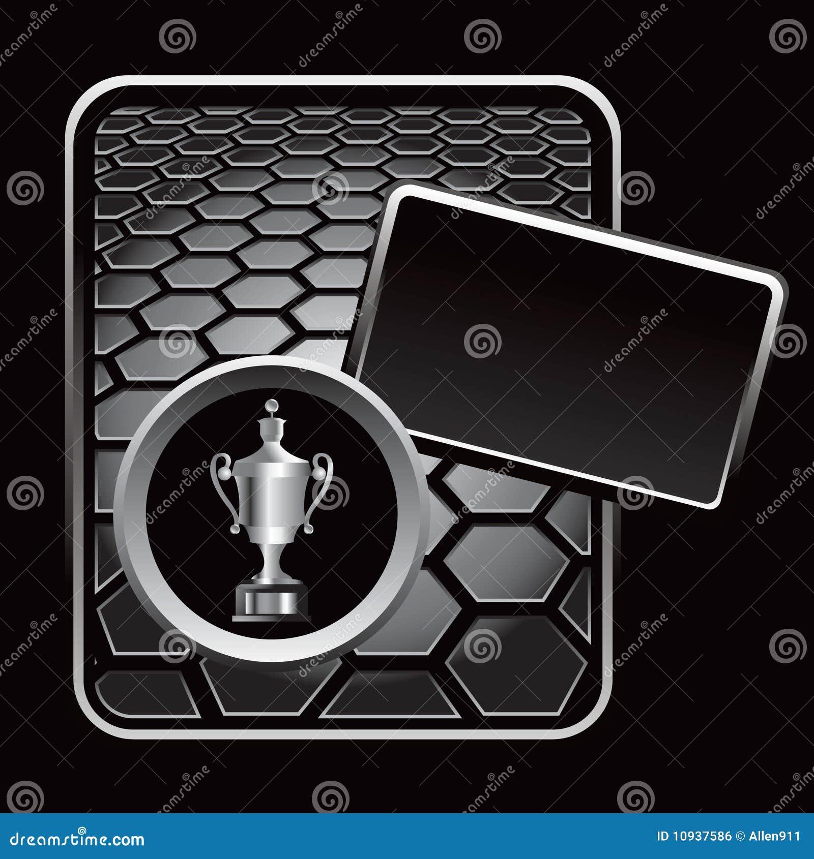 трофей шестиугольника знамени черный разработанный