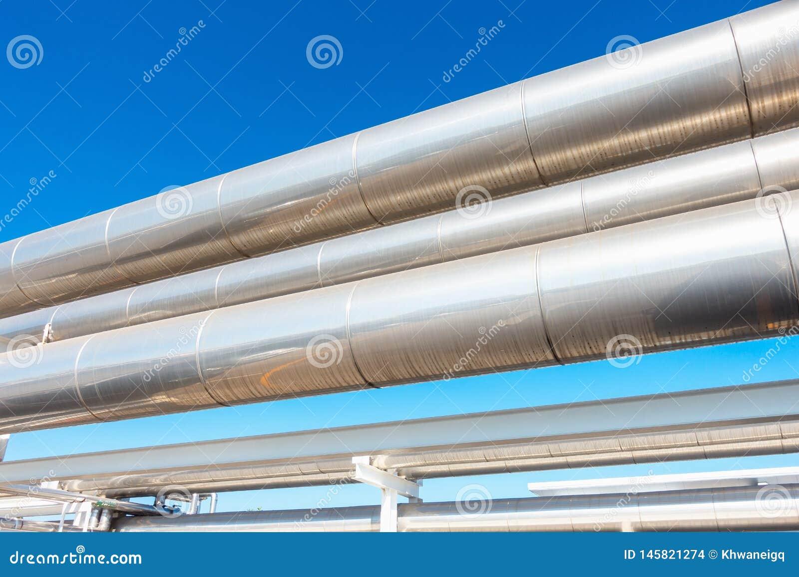 Трубопровод охладителя или пара и изоляция производства в нефти и газ промышленной, петрохимической трубе распределения на рафина
