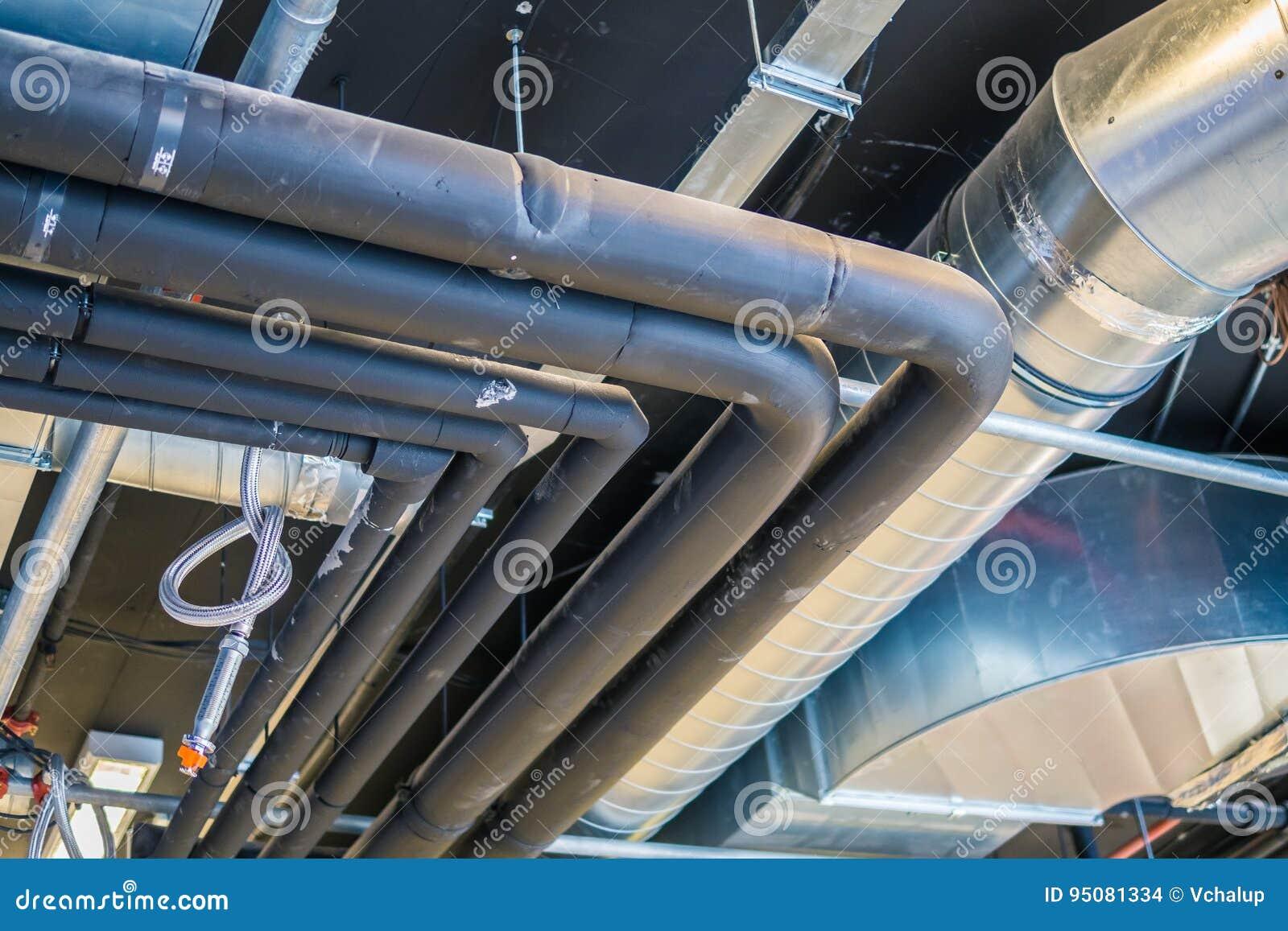 Трубы системы HVAC & x28; вентиляция топления и кондиционер & x29;