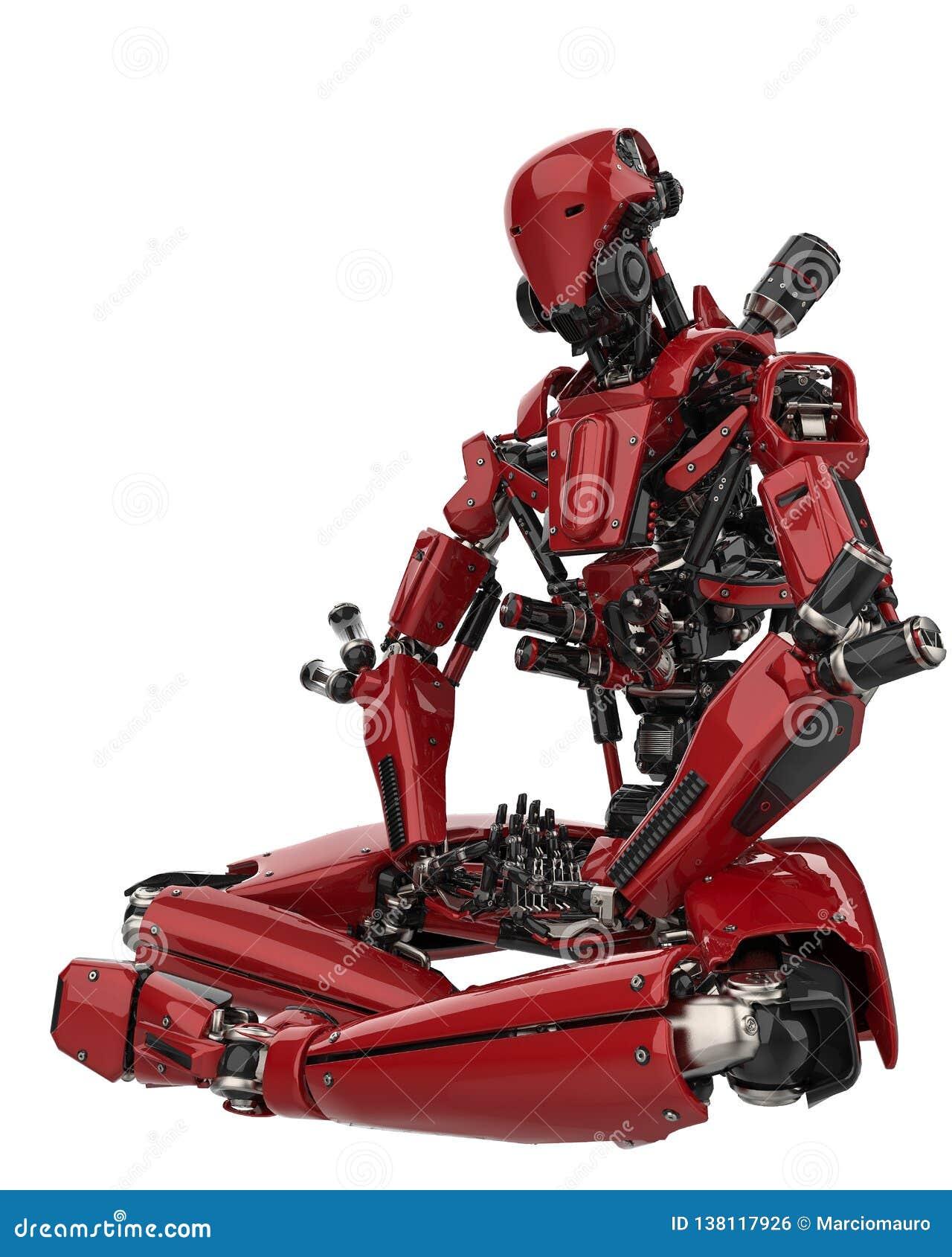 Трутень мега робота супер в белой предпосылке