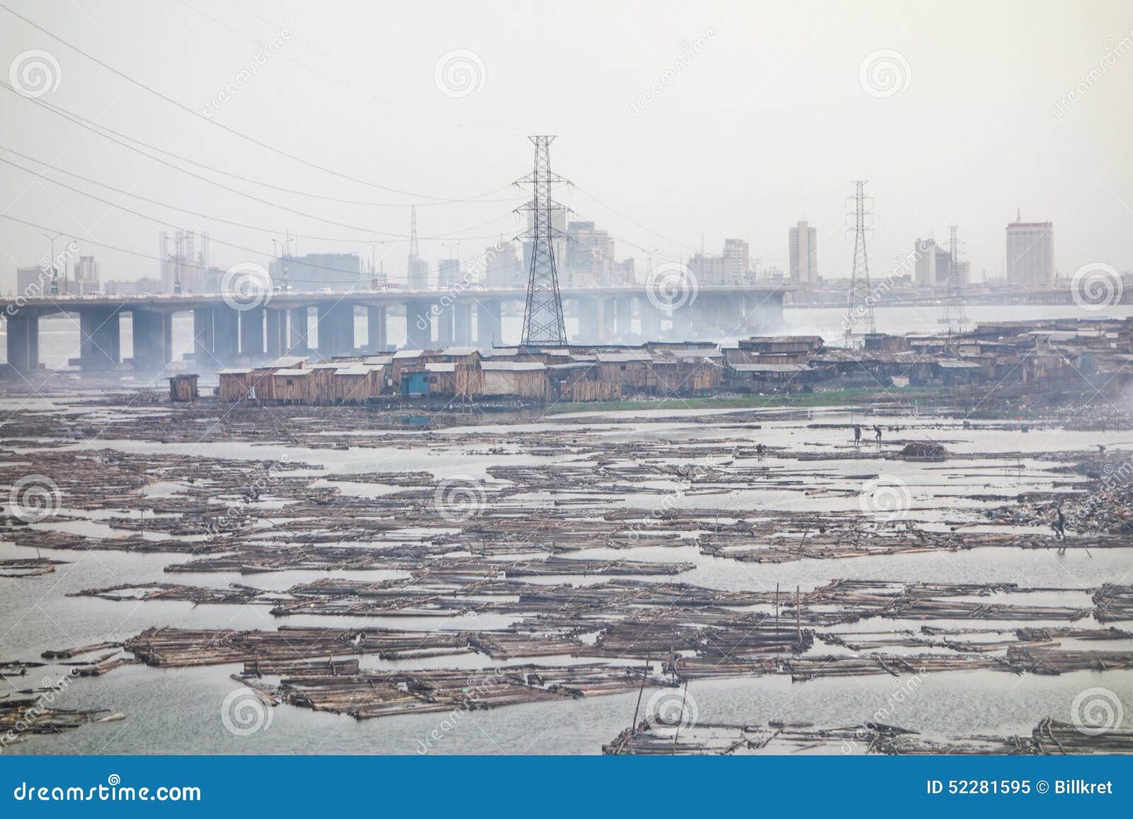 Трущобы в Лагосе Нигерии