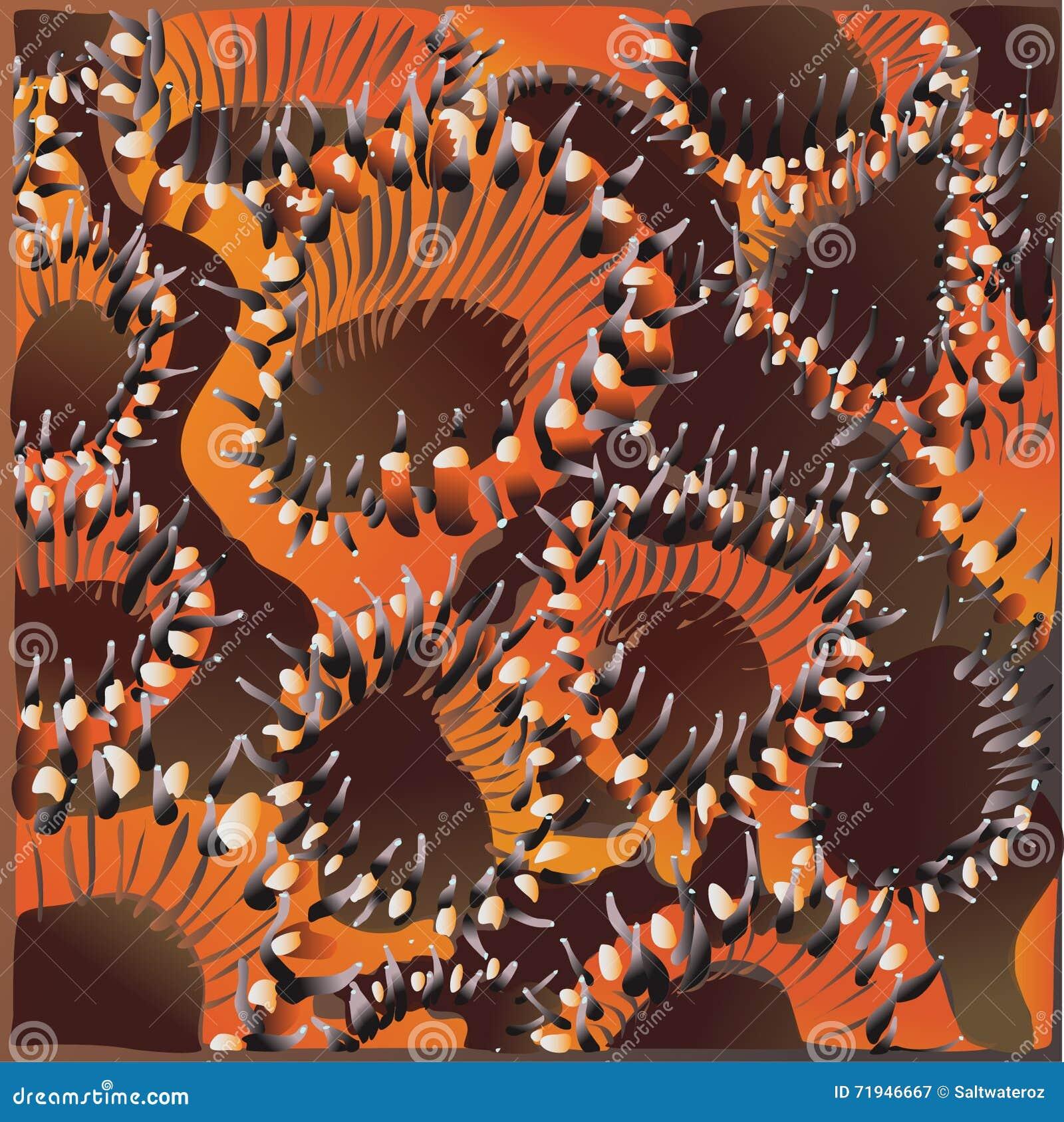 Трудные полипы коралла закрывают вверх