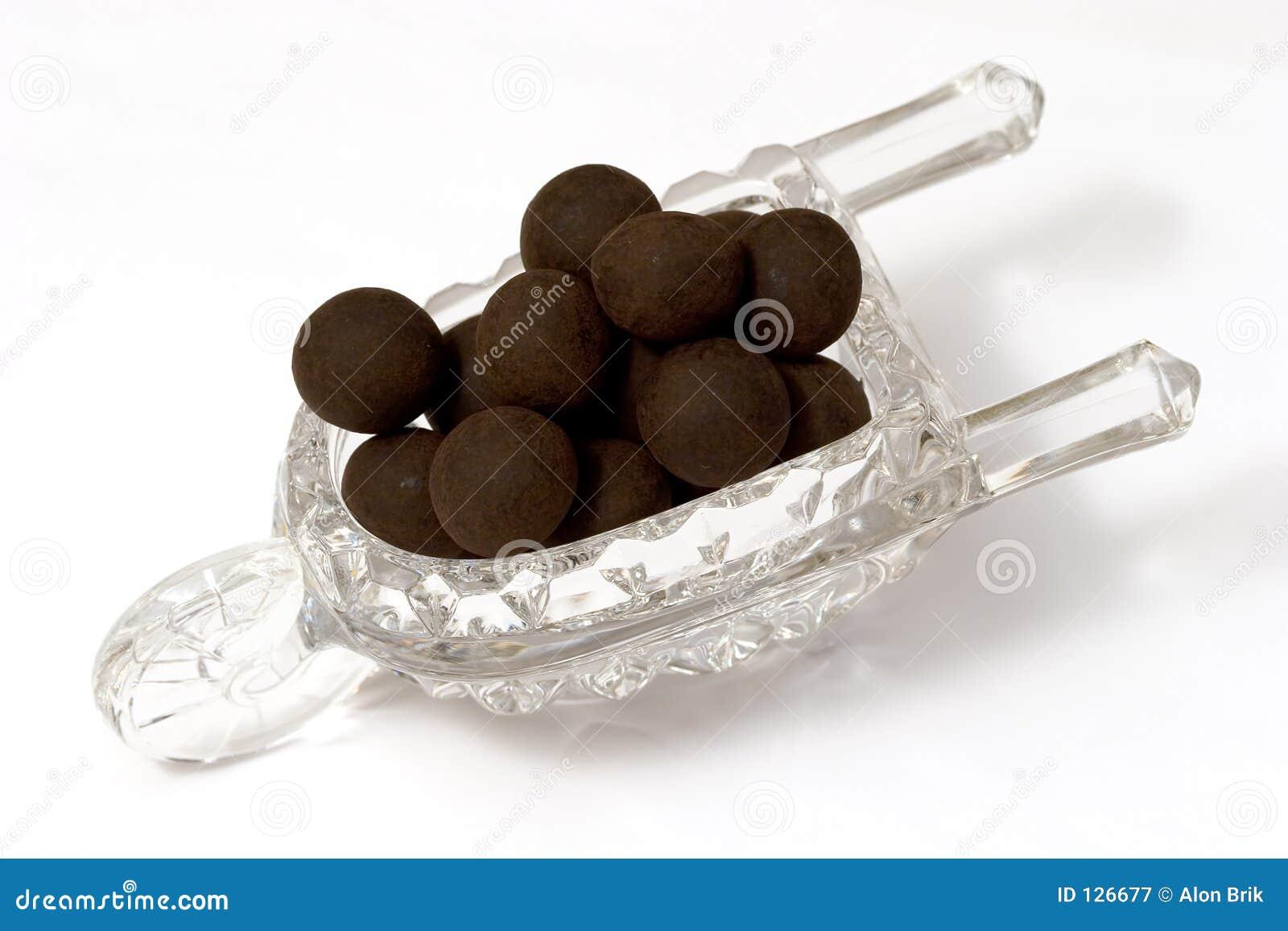 трюфеля темноты шоколада