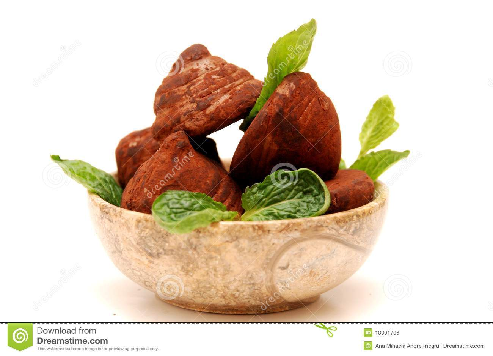 трюфеля шоколада шара круглые