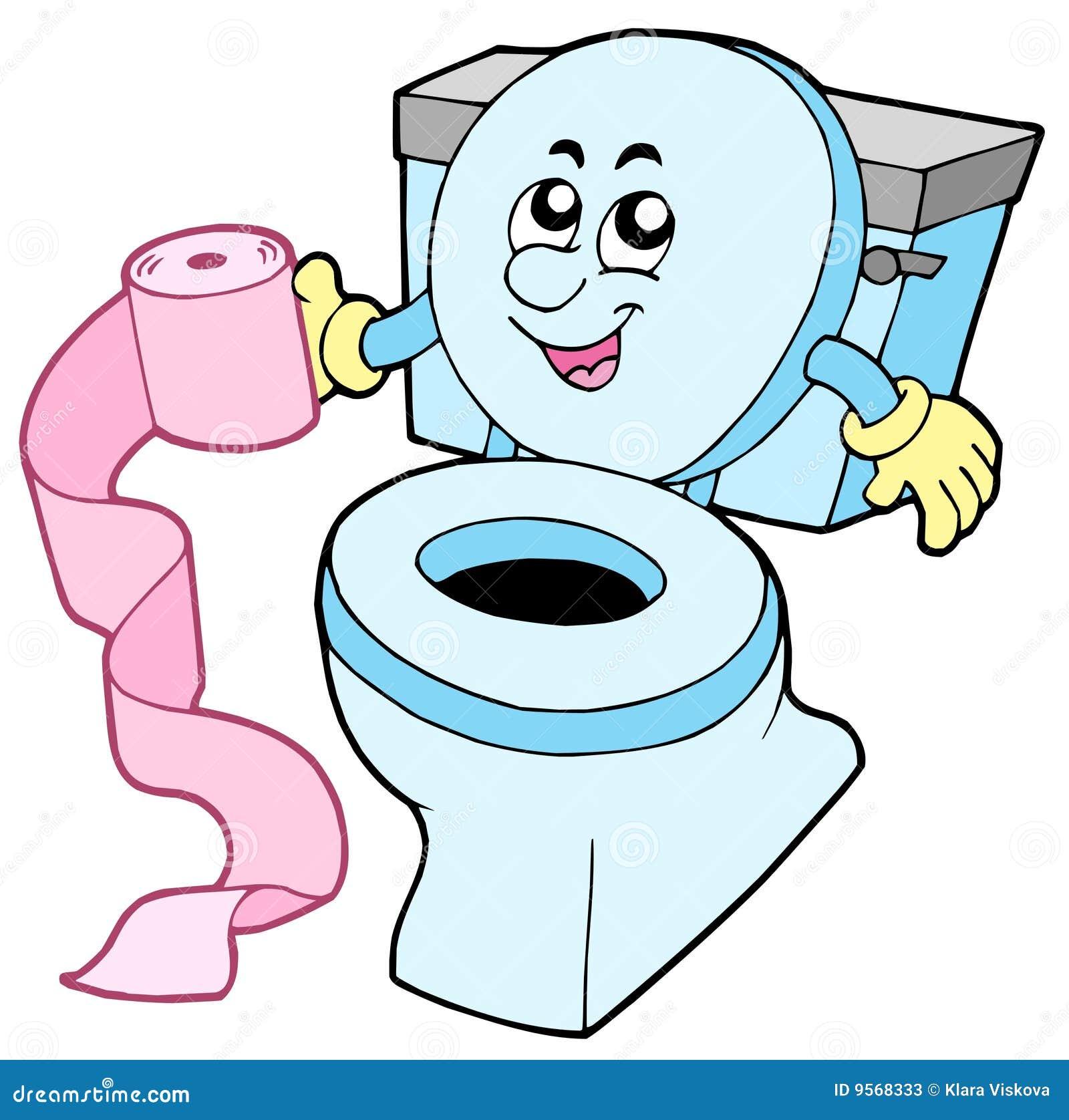 туалет шаржа
