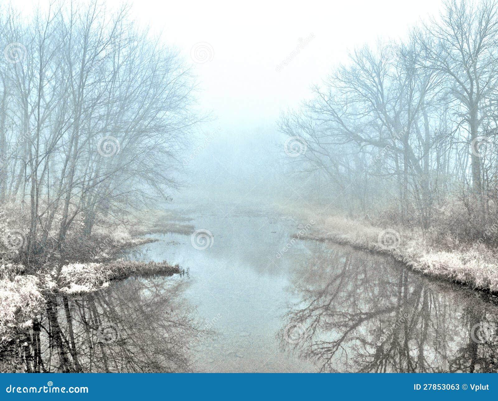 Туманная заводь зимы