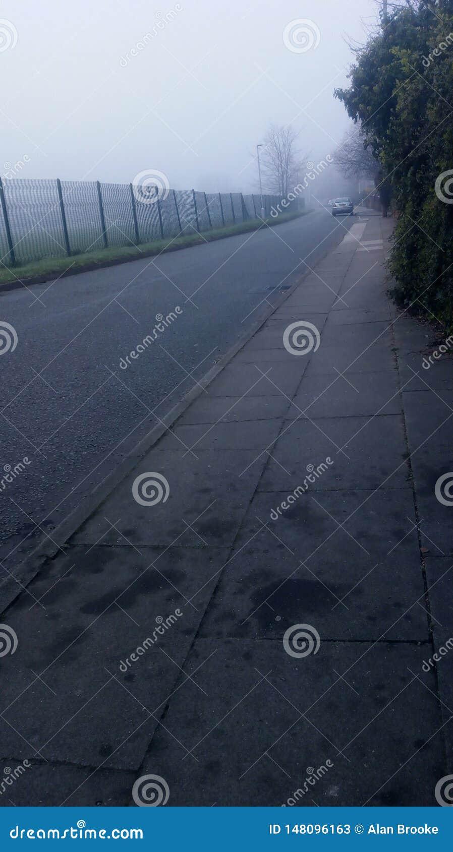 Туманное утро в Ливерпуле