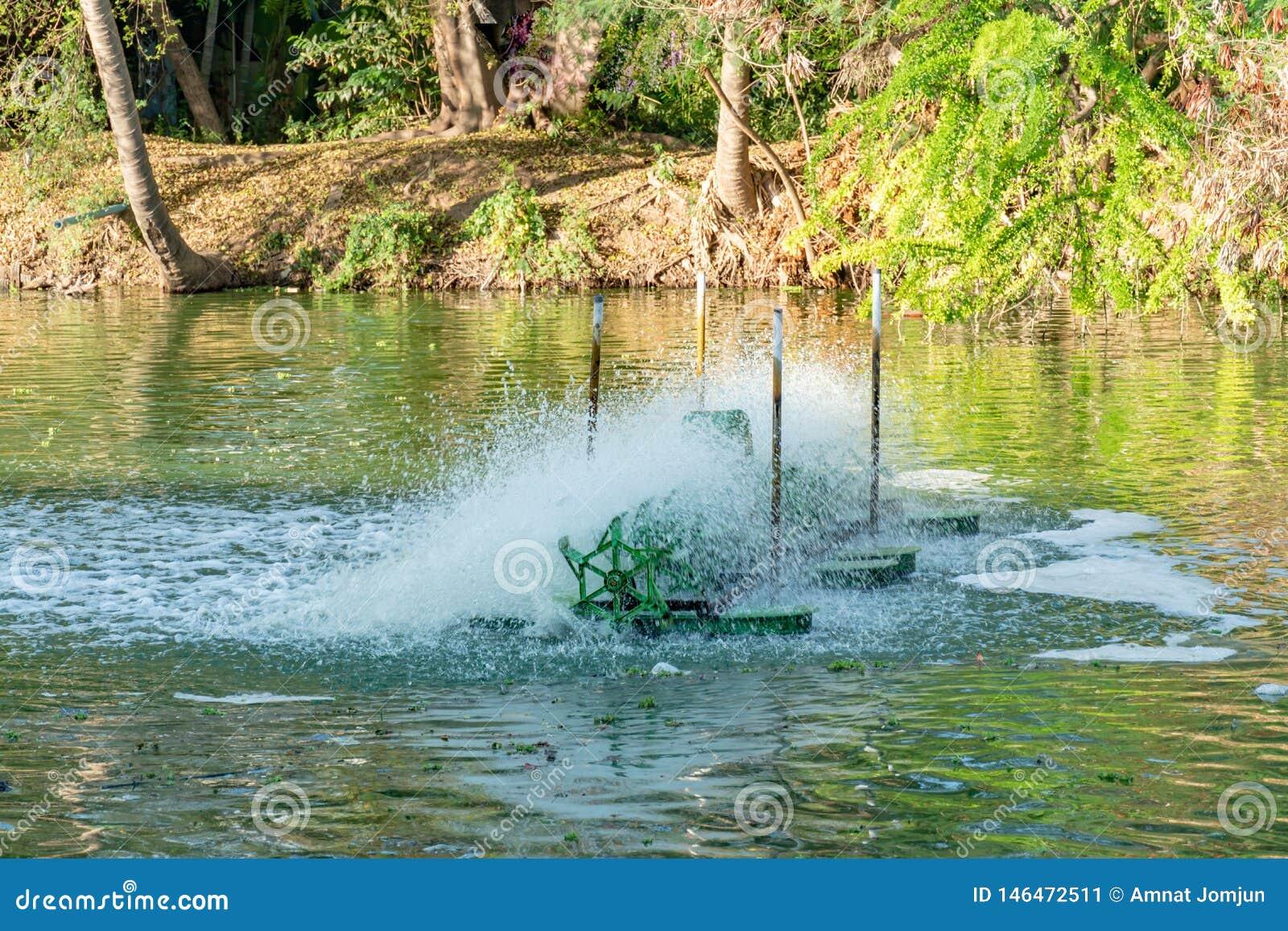 Турбина воды, обработка сточных вод