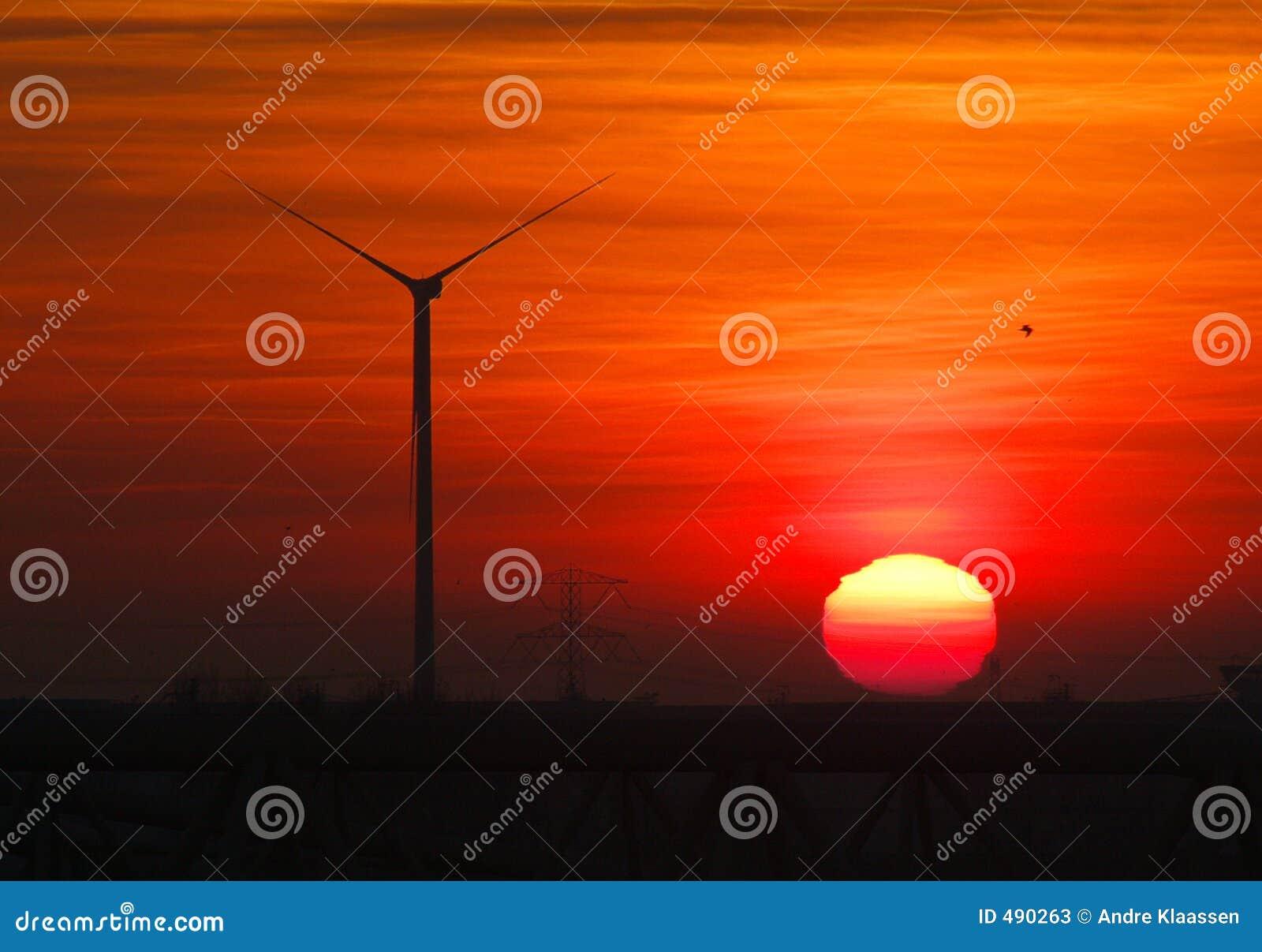 турбина захода солнца