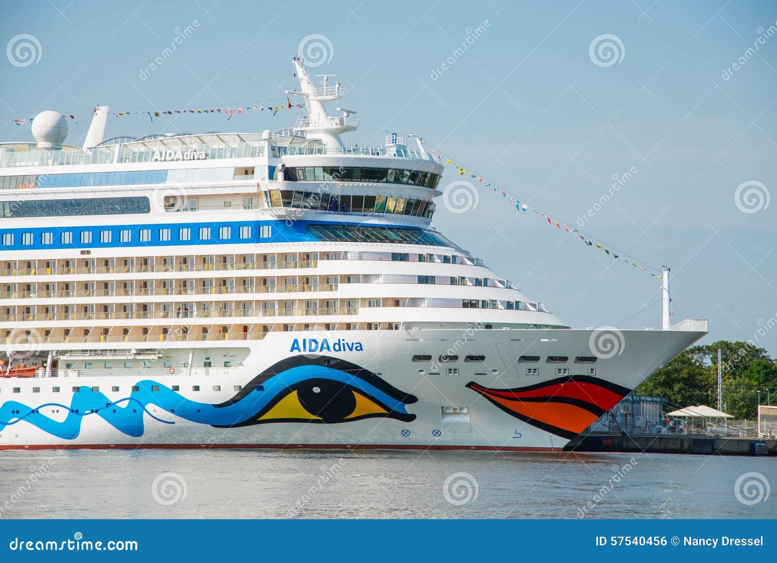 Туристическое судно дивы Aida