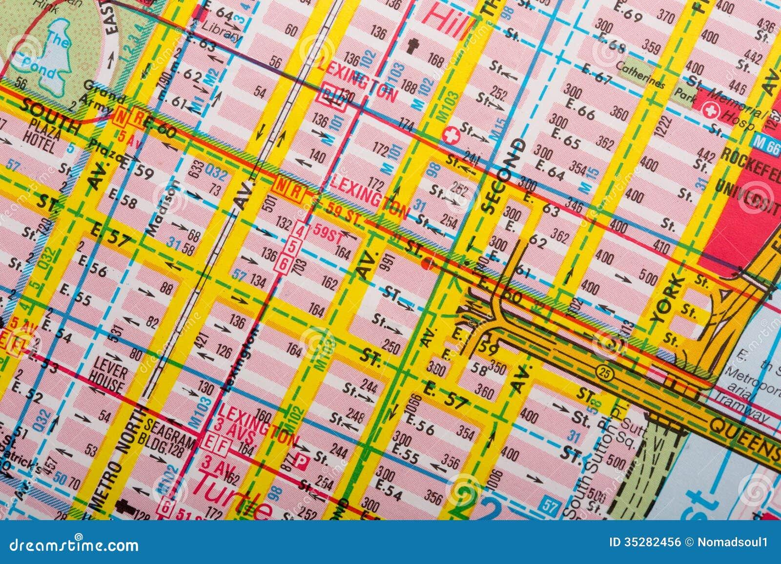 Туристская карта улицы