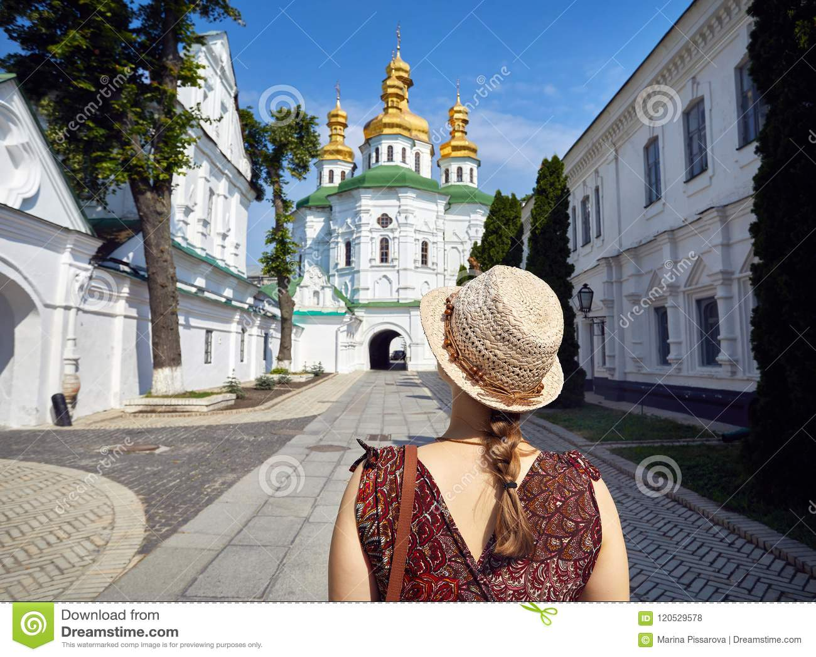 Турист в Киеве Pechersk Lavra