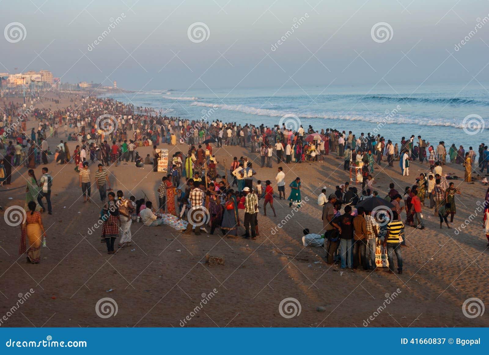 Турист на пляже
