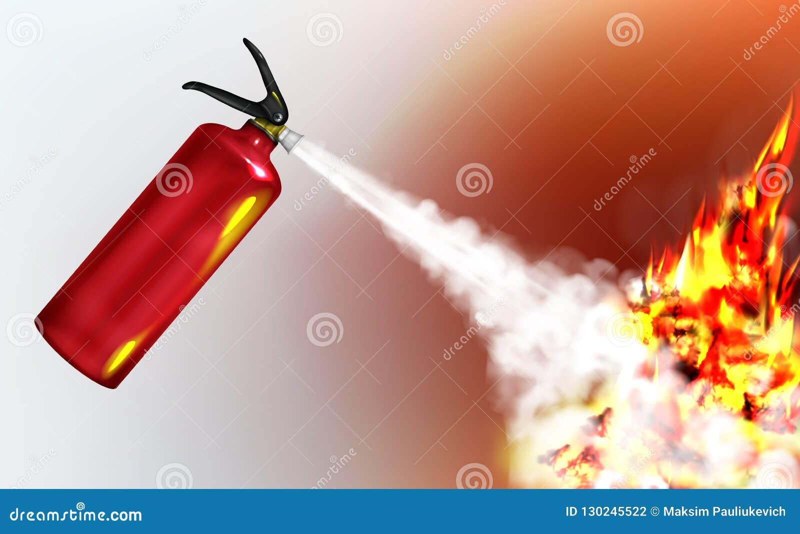 Брюнетку С Огнетушителем Пламя   Обойдет