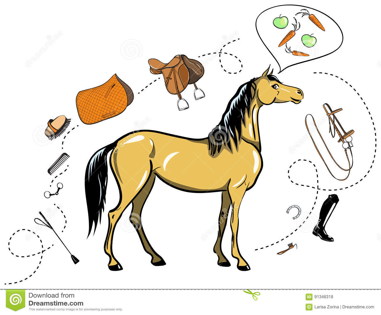 Тэкс лошади и верховой езды Взнуздайте, оседлайте, стремя, щетка, бит, проводка, поставки, взбейте equine оборудования проводки
