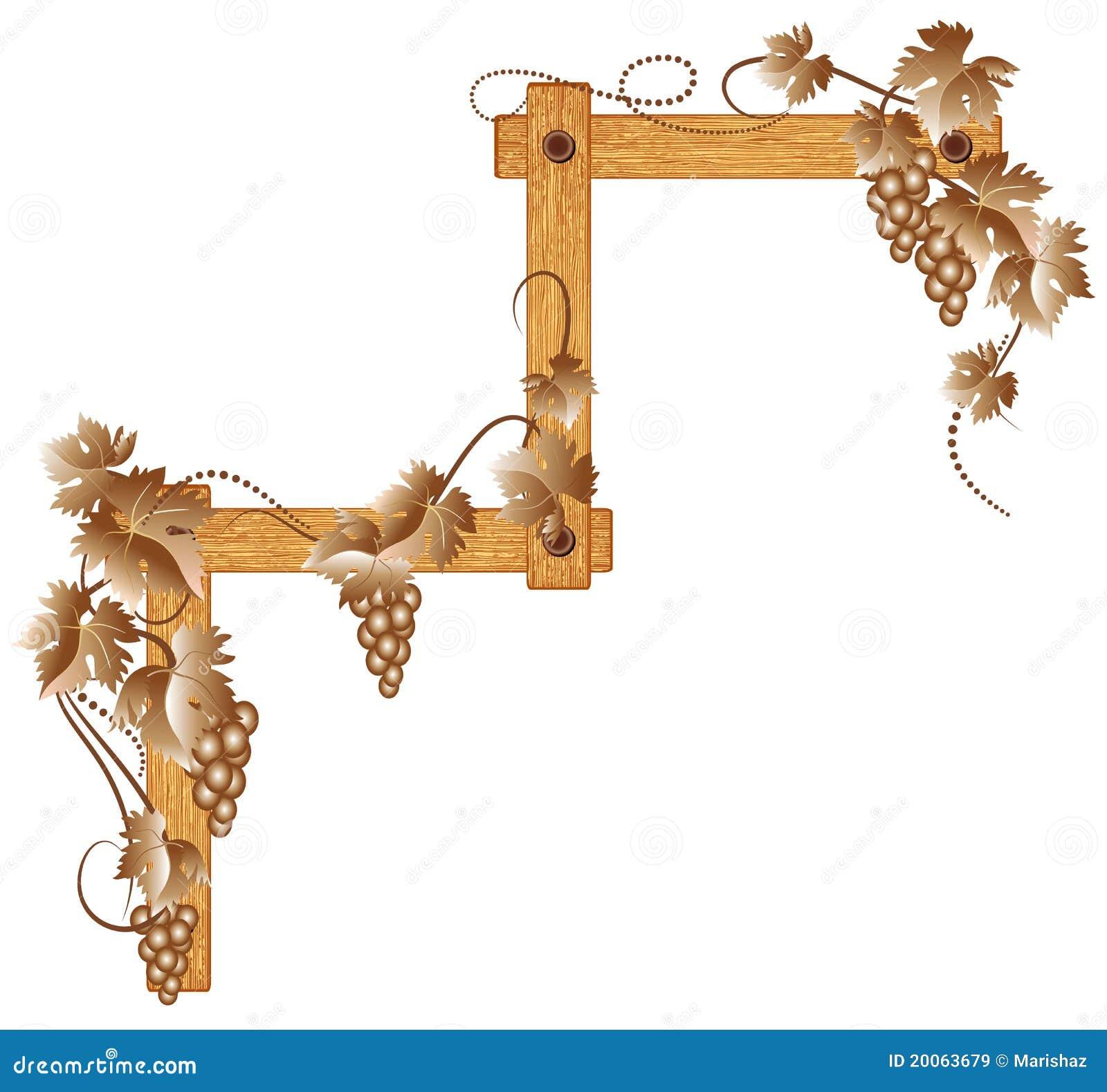 угловойые виноградины деревянные