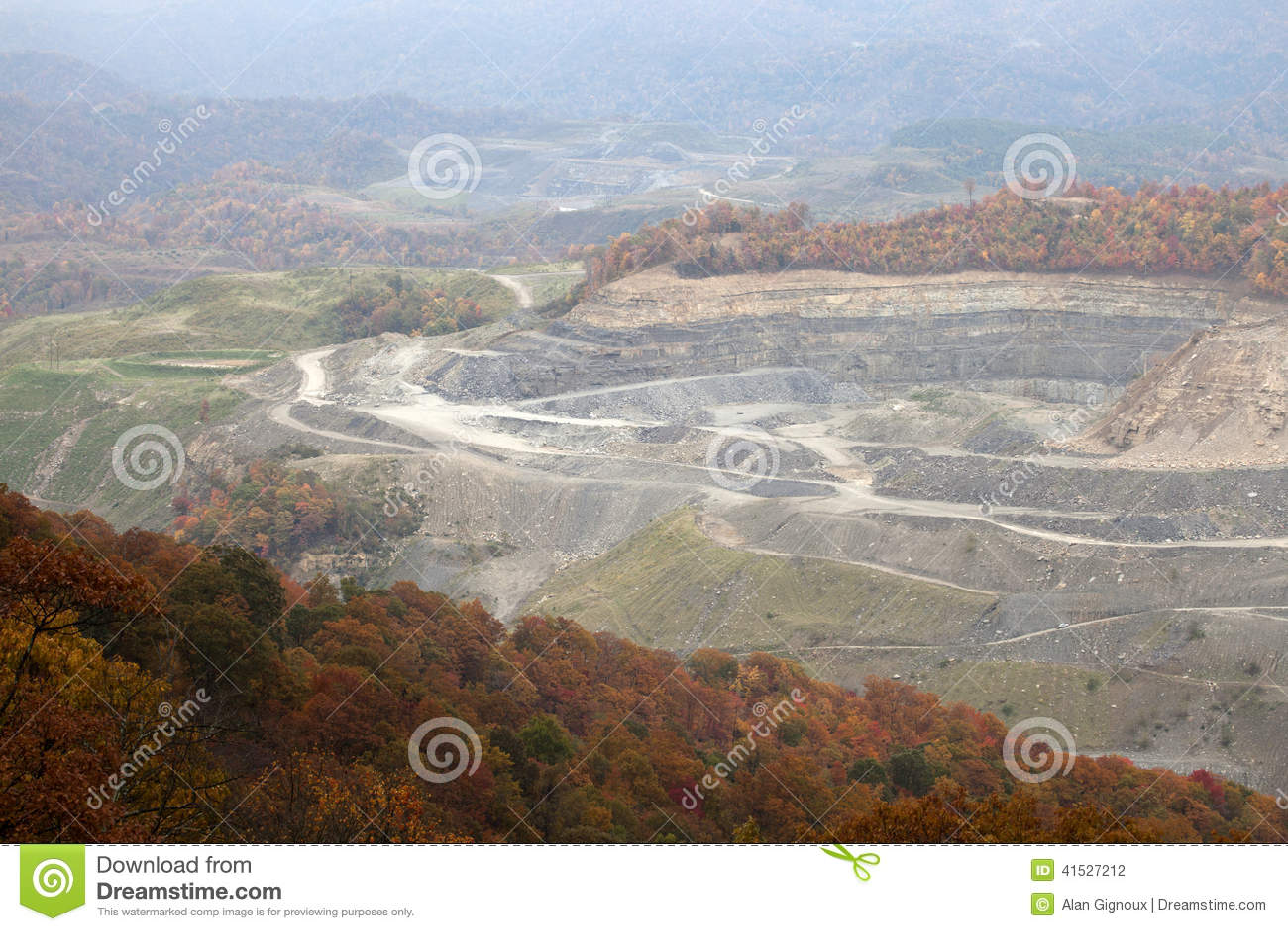 Угольная шахта, Appalachia, Америка