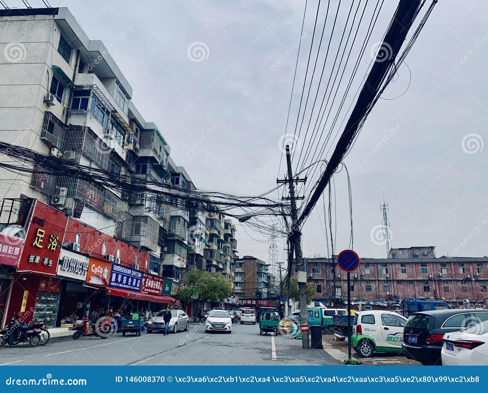 Удаление улицы Zhuantang старой
