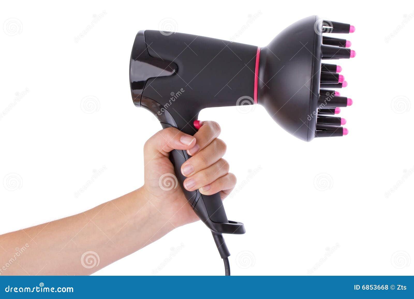 удерживание руки hairdryer