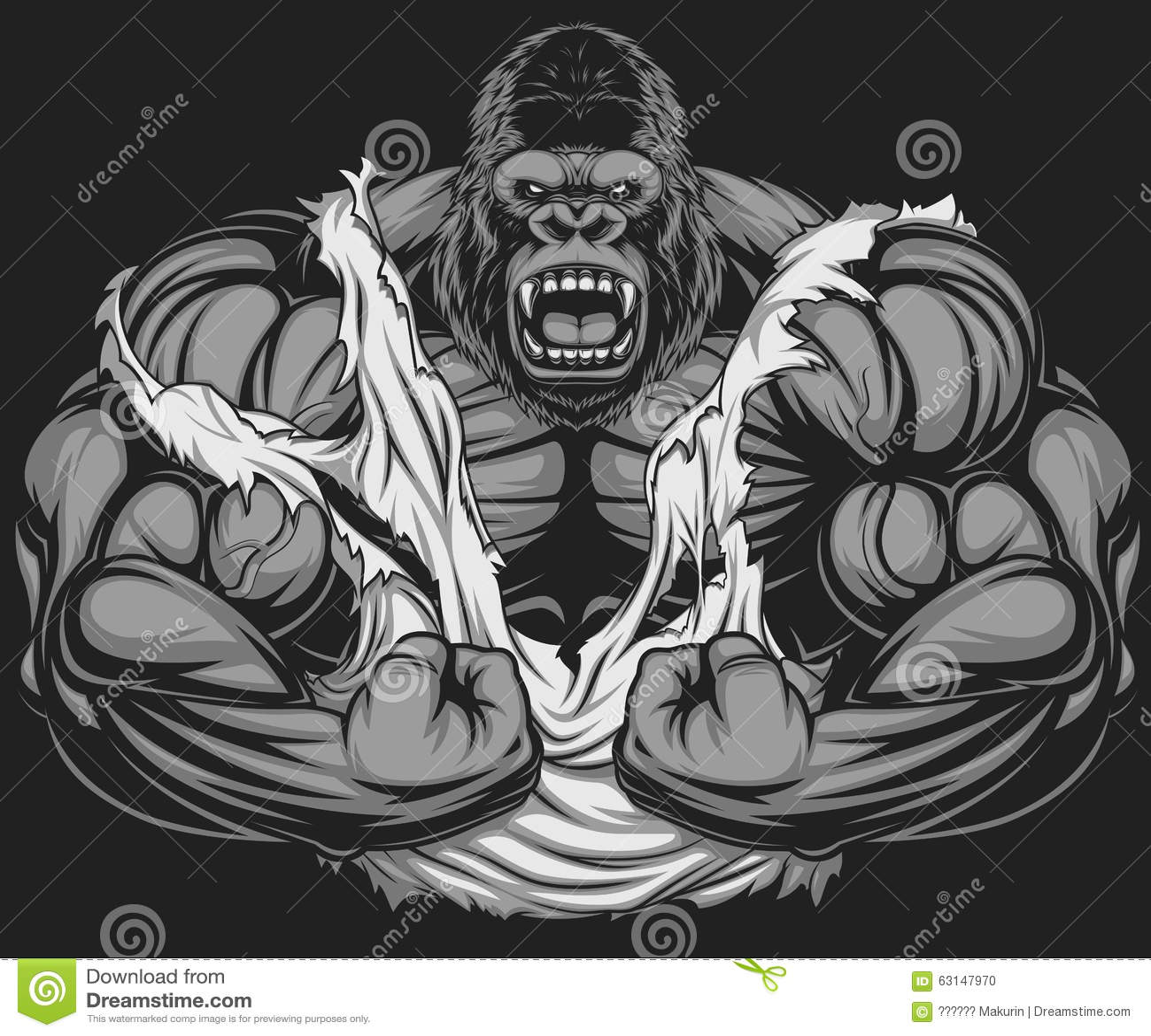Ужасный спортсмен гориллы