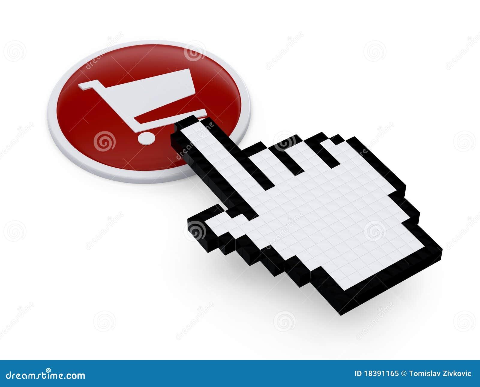 указатель руки pixelated мышью