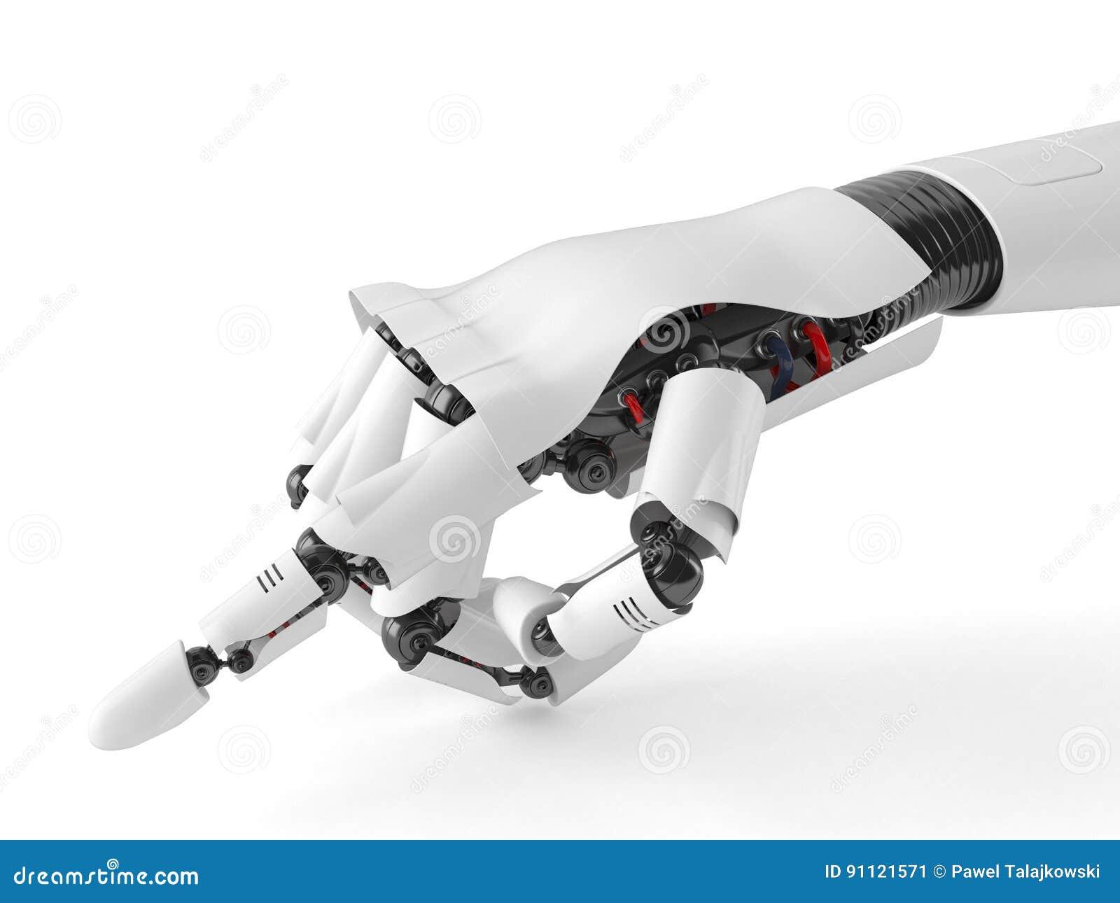 Указывать рука робота