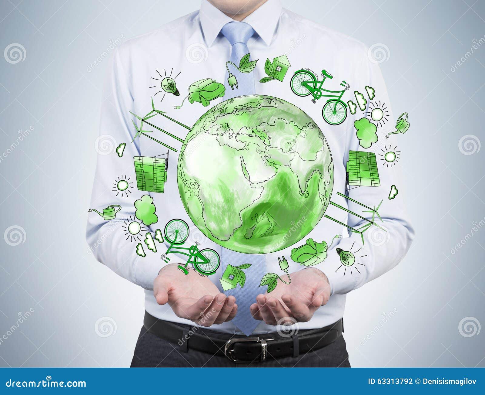 Укомплектуйте личным составом заботить о чистой окружающей среде, энергии eco, защите