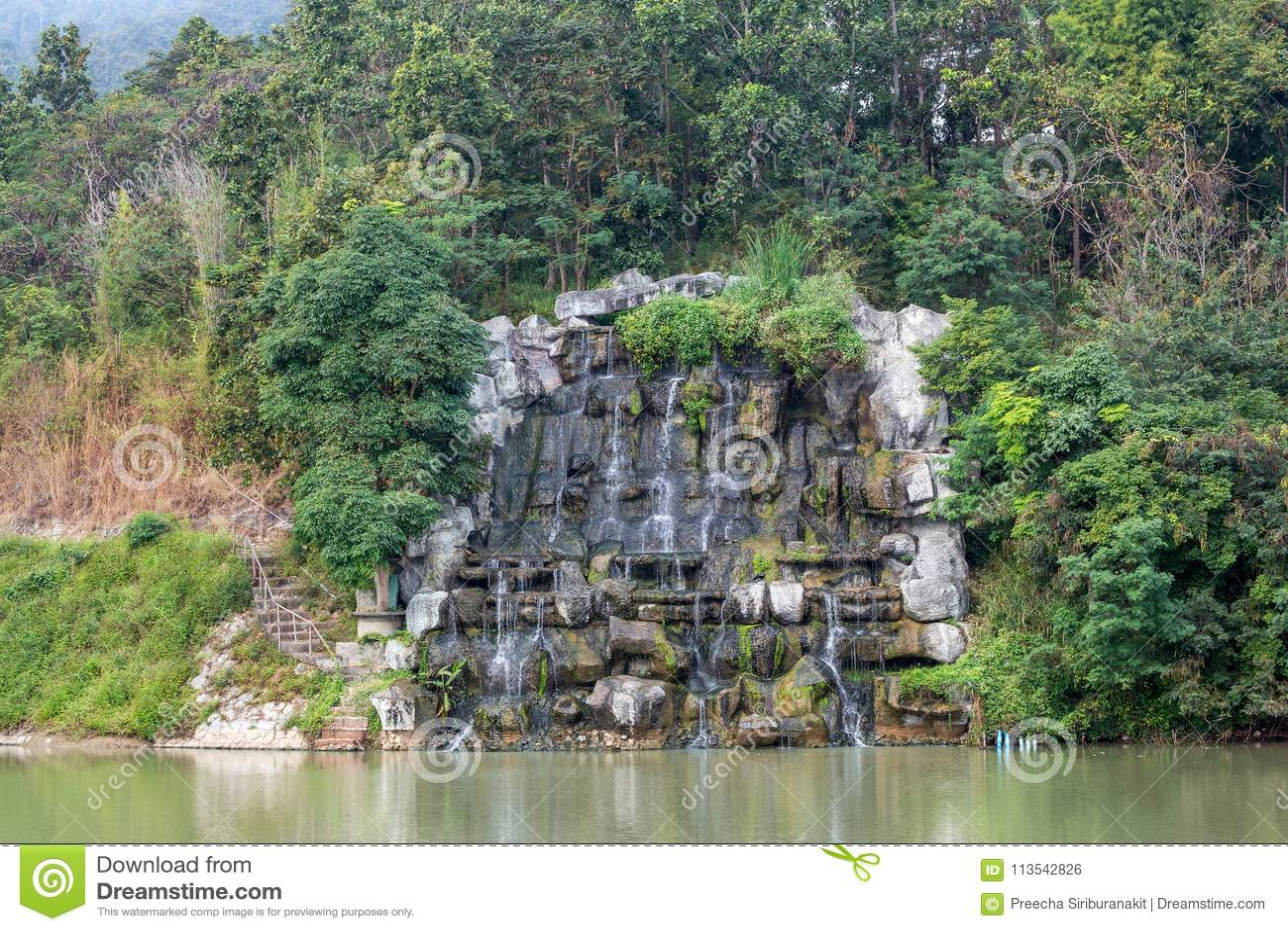 Украсьте водопад
