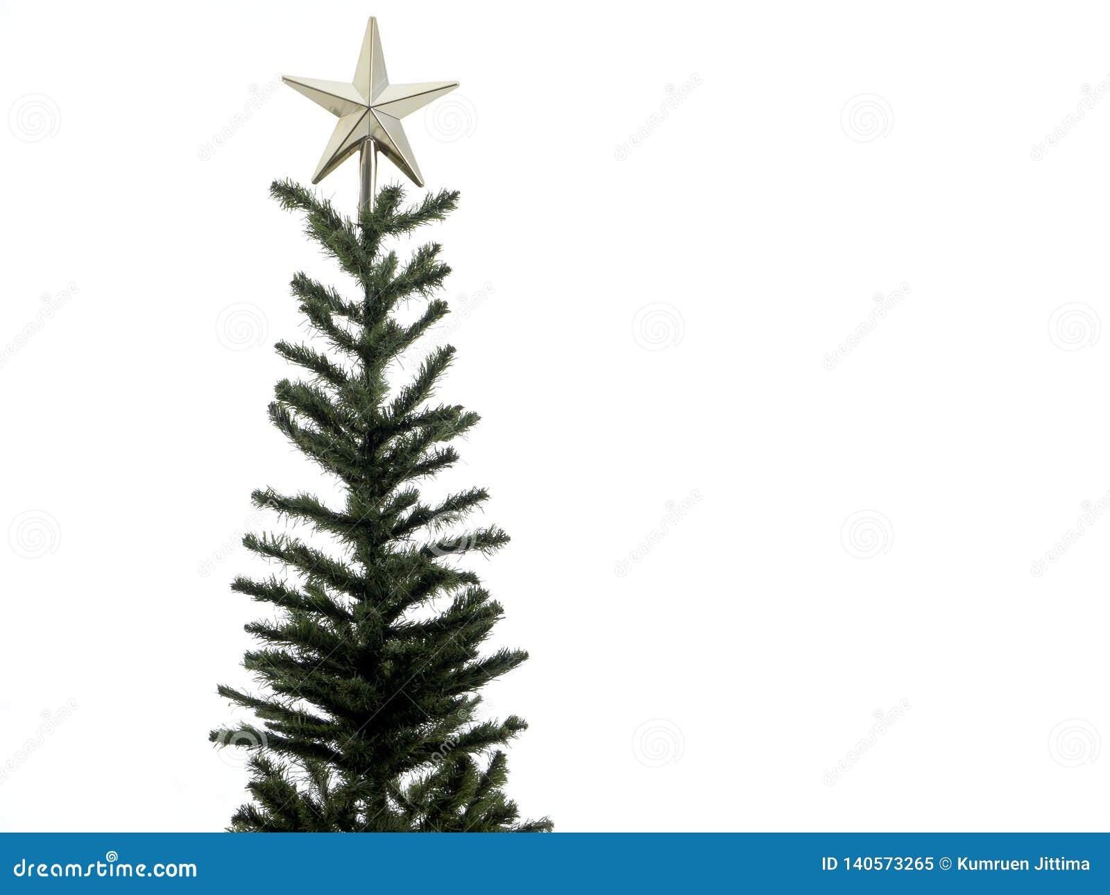 Украшения рождественской елки на белой предпосылке Конец-вверх