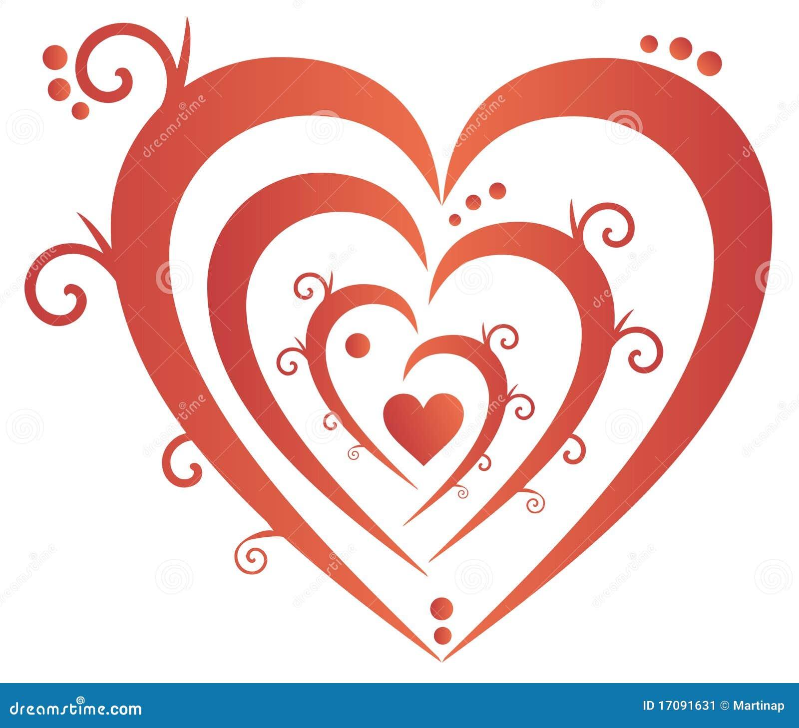украшенное сердце